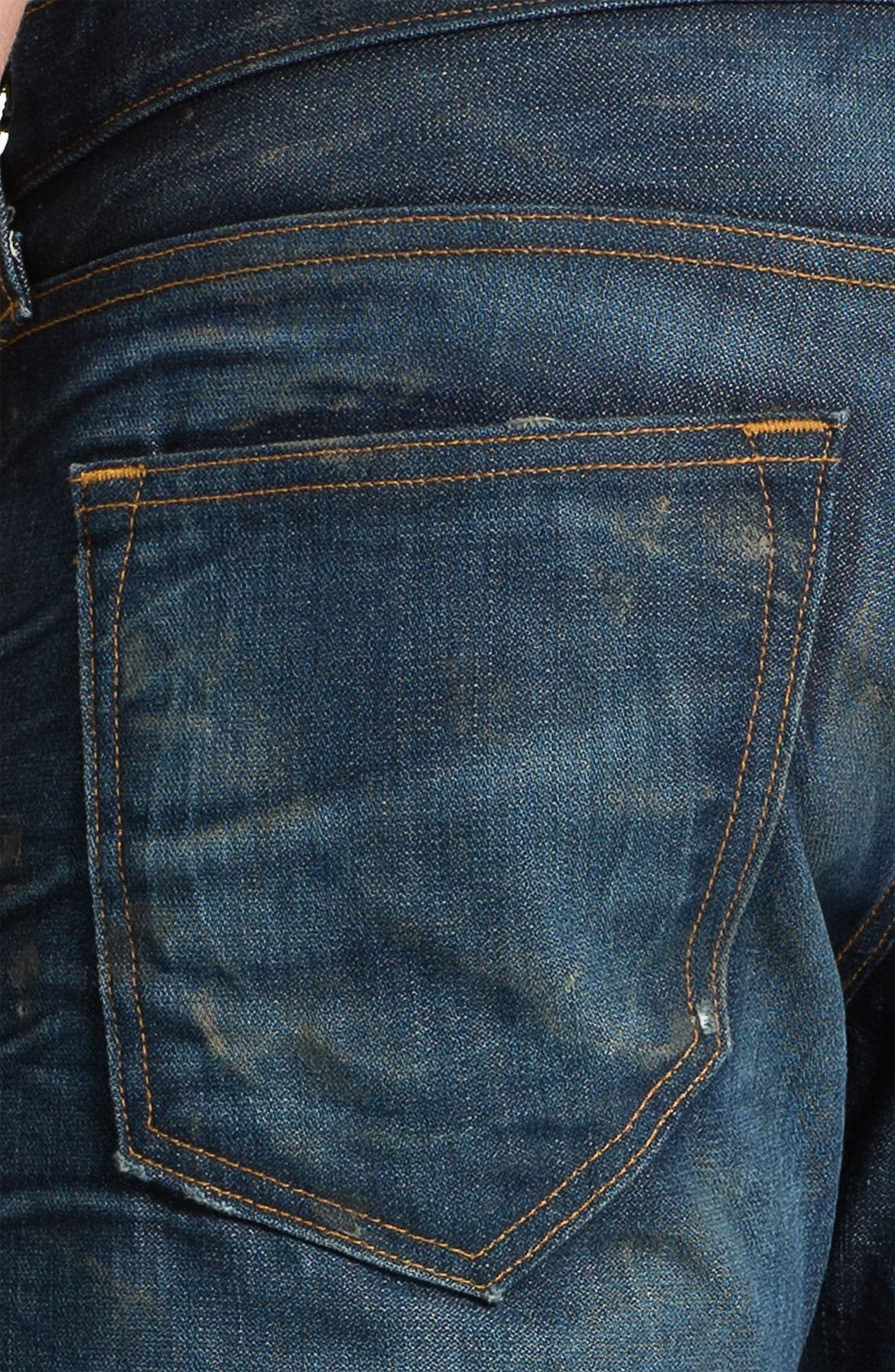 Alternate Image 4  - True Religion Brand Jeans 'Geno 1971' Slim Straight Leg Jeans (Hideout)