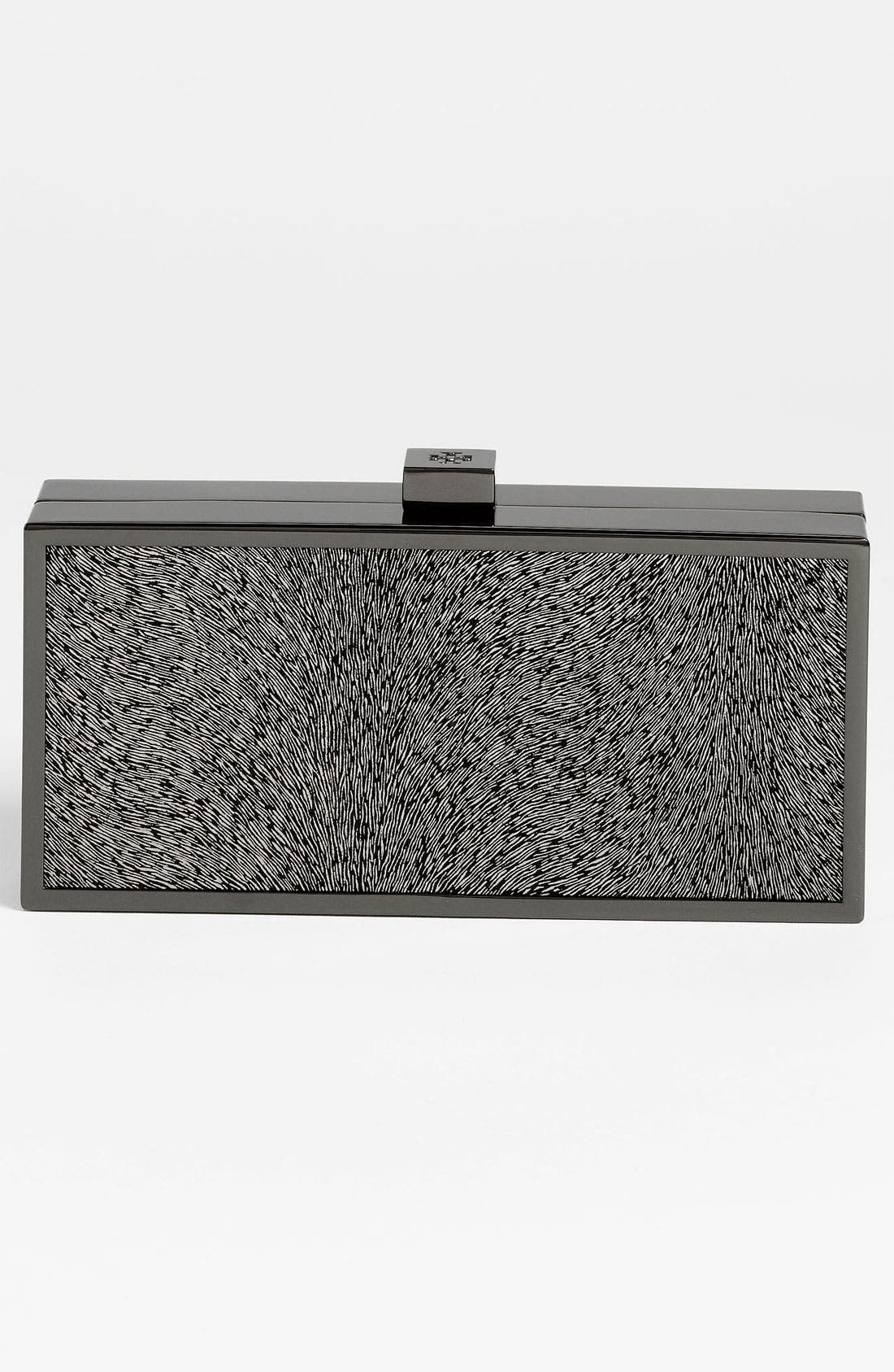 Alternate Image 4  - Tory Burch Sparkle Suede Clutch