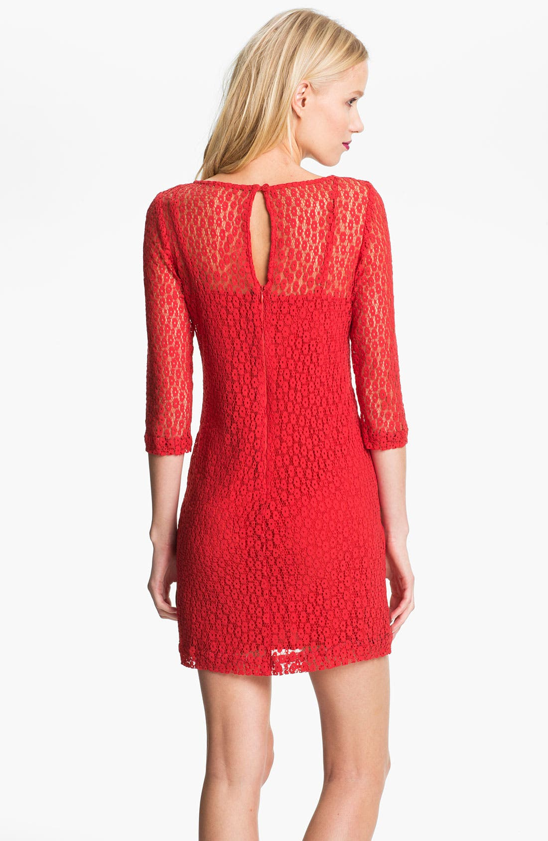 Alternate Image 2  - Trina Turk Layered Lace Shift Dress