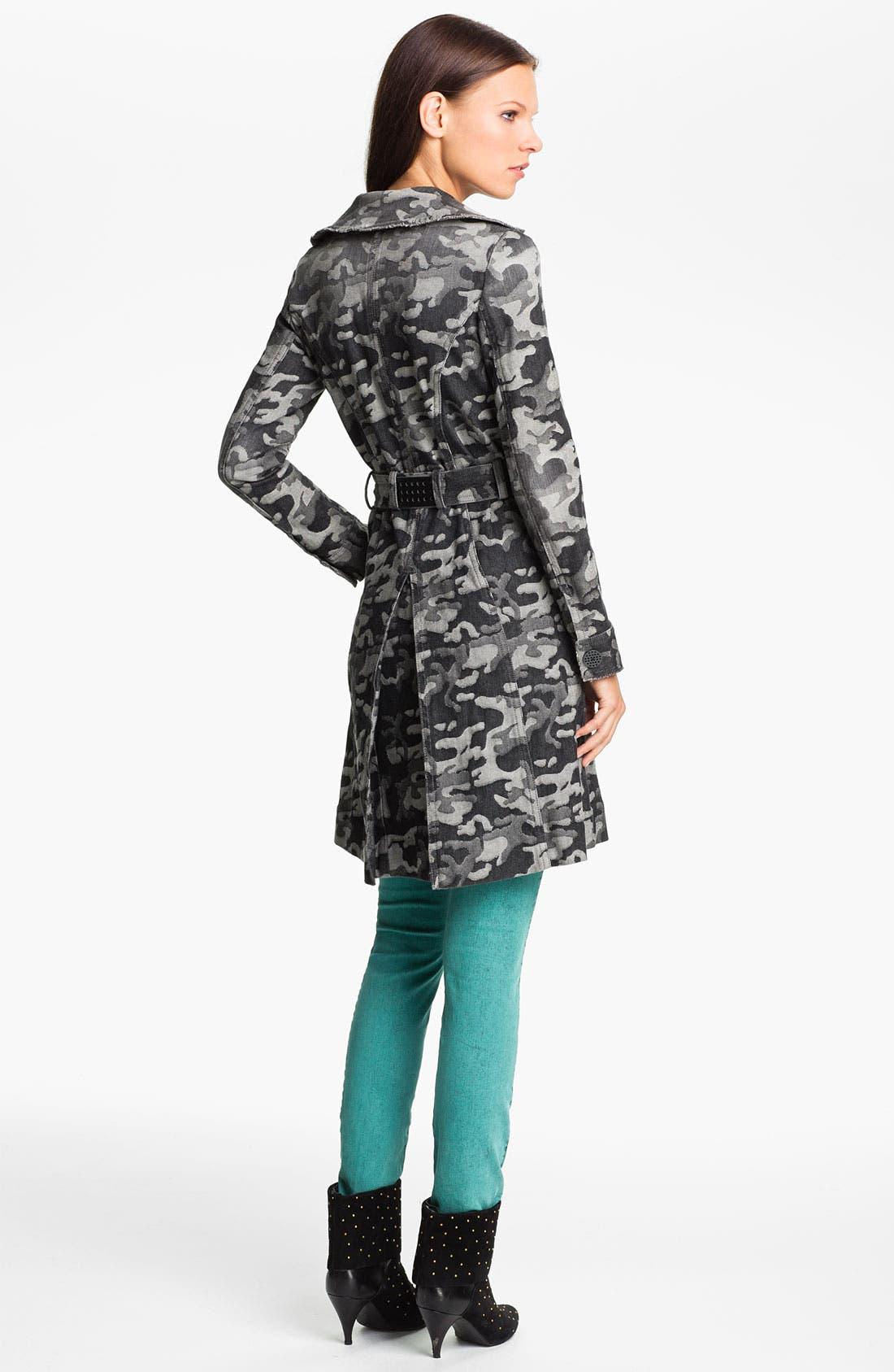 Alternate Image 2  - Kelly Wearstler 'Chameleon' Camo Print Trench Coat