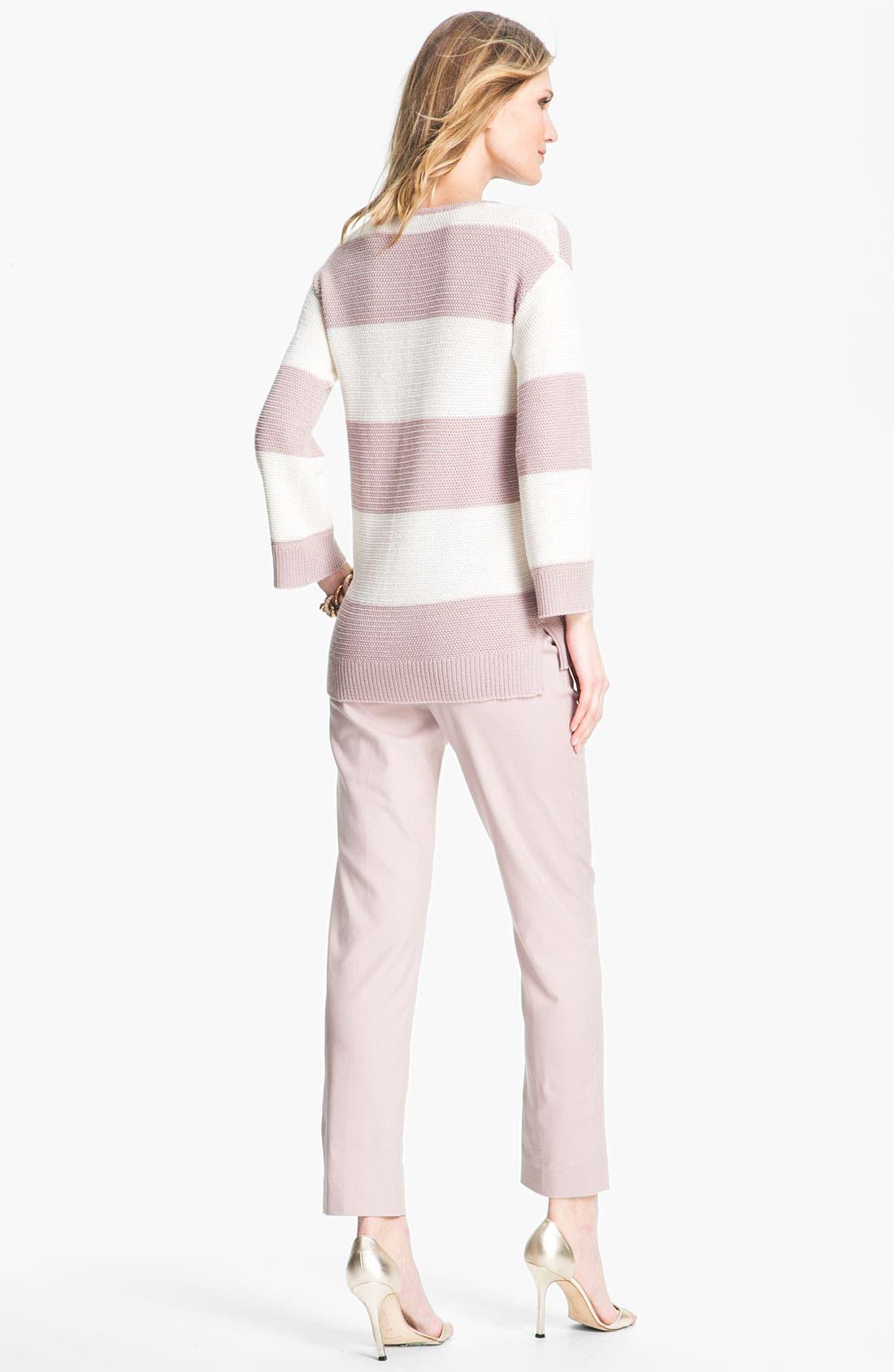 Alternate Image 4  - St. John Collection 'Emma' Double Weave Stretch Cotton Crop Pants