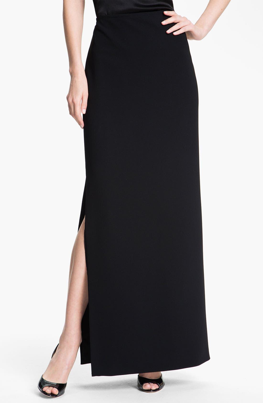 Alternate Image 2  - St. John Collection Crepe Marocain Gown Skirt