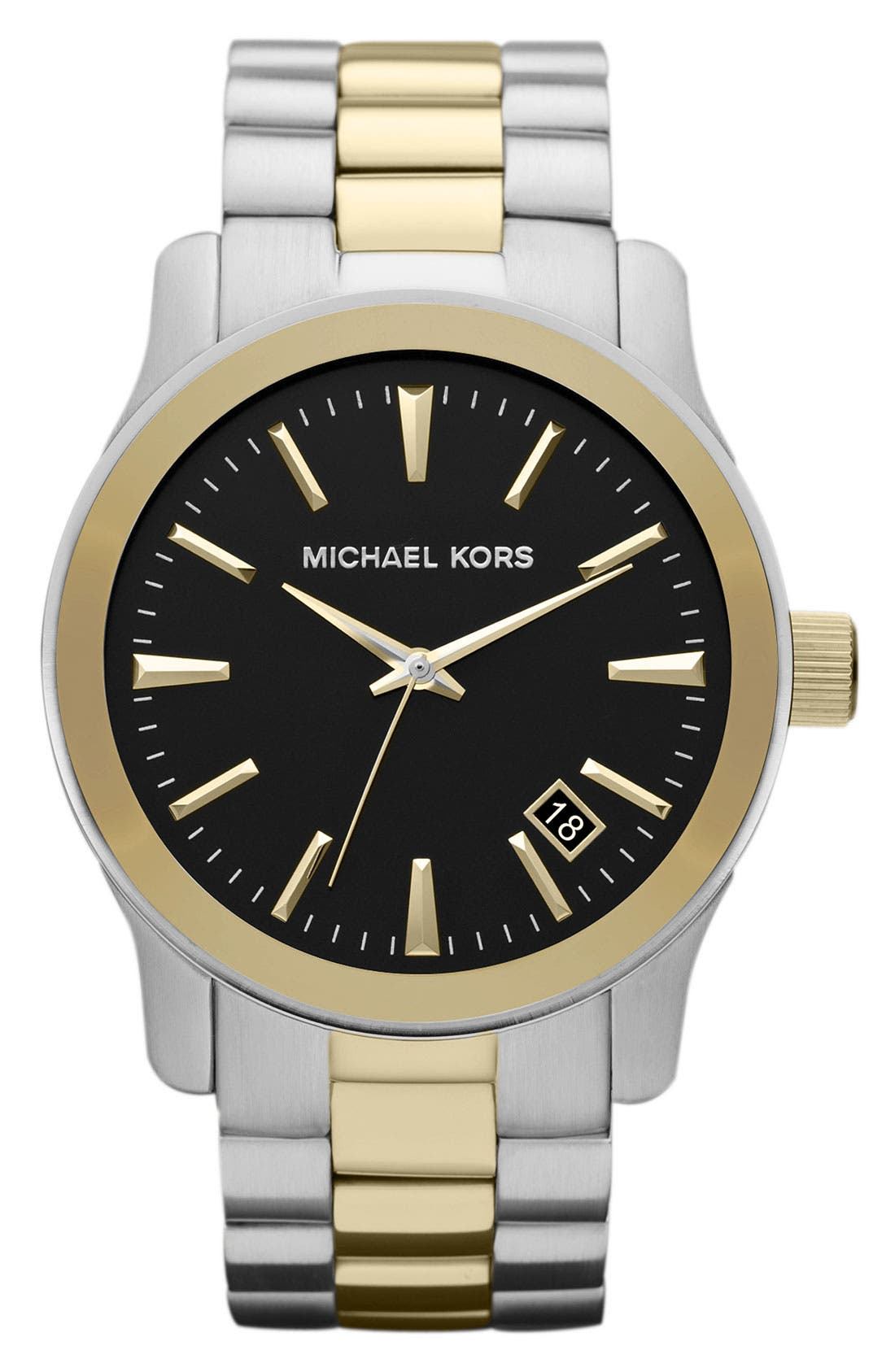 Main Image - Michael Kors 'Large Runway' Bracelet Watch, 44mm