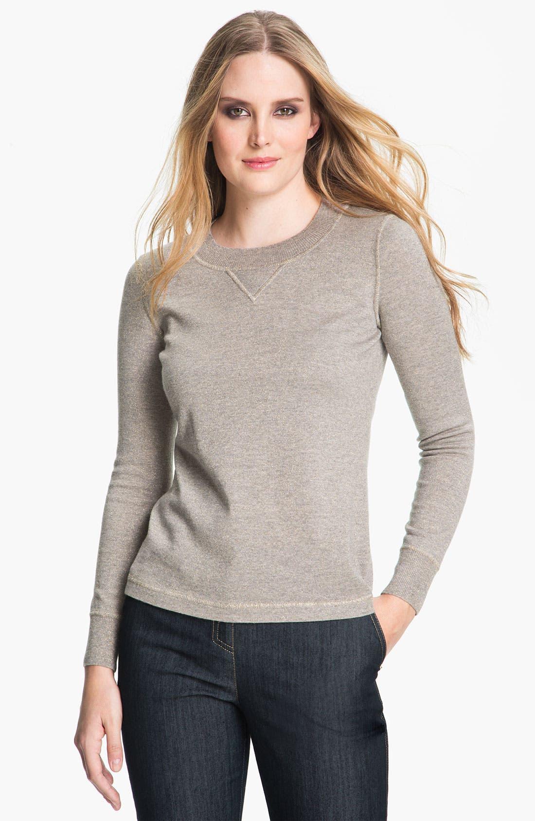 Alternate Image 1 Selected - St. John Collection Shimmer Mélange Knit Sweater