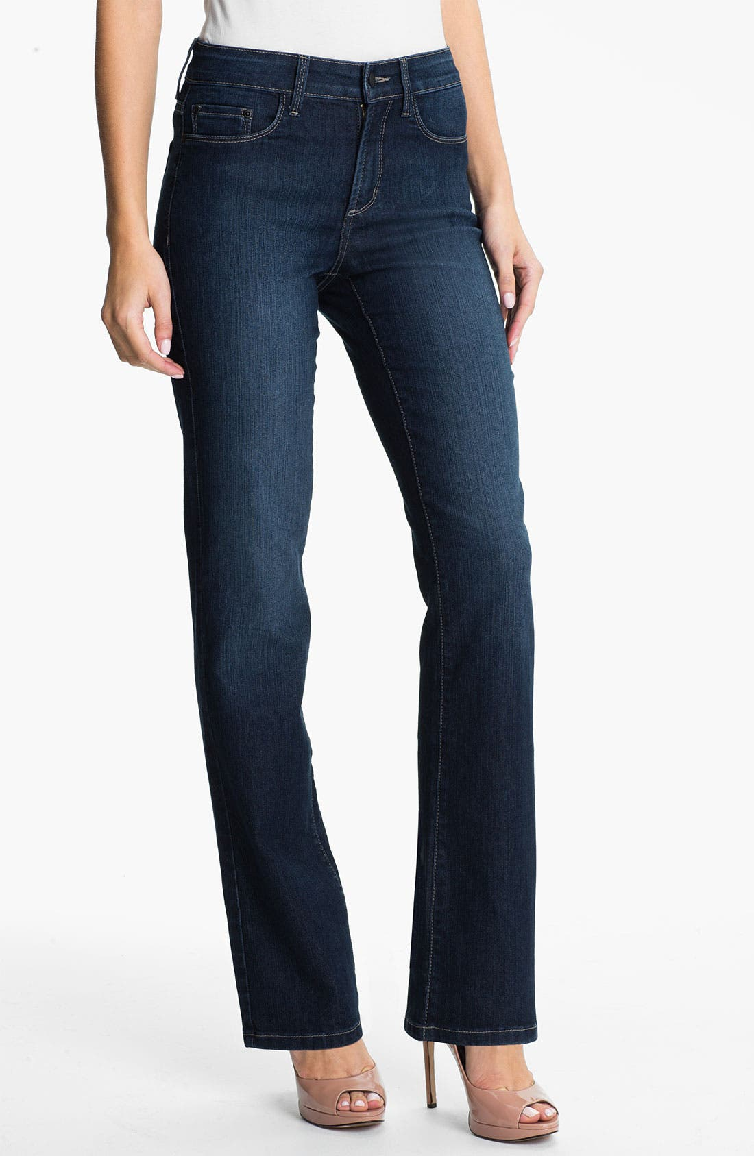 Main Image - NYDJ 'Barbara' Embellished Stretch Bootcut Jeans