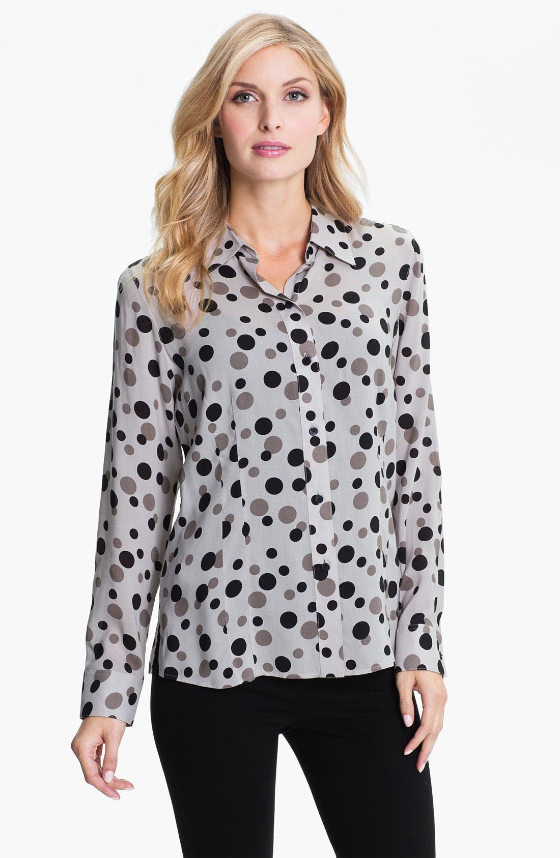 Alternate Image 1 Selected - Foxcroft 'Floating Dots' Shirt