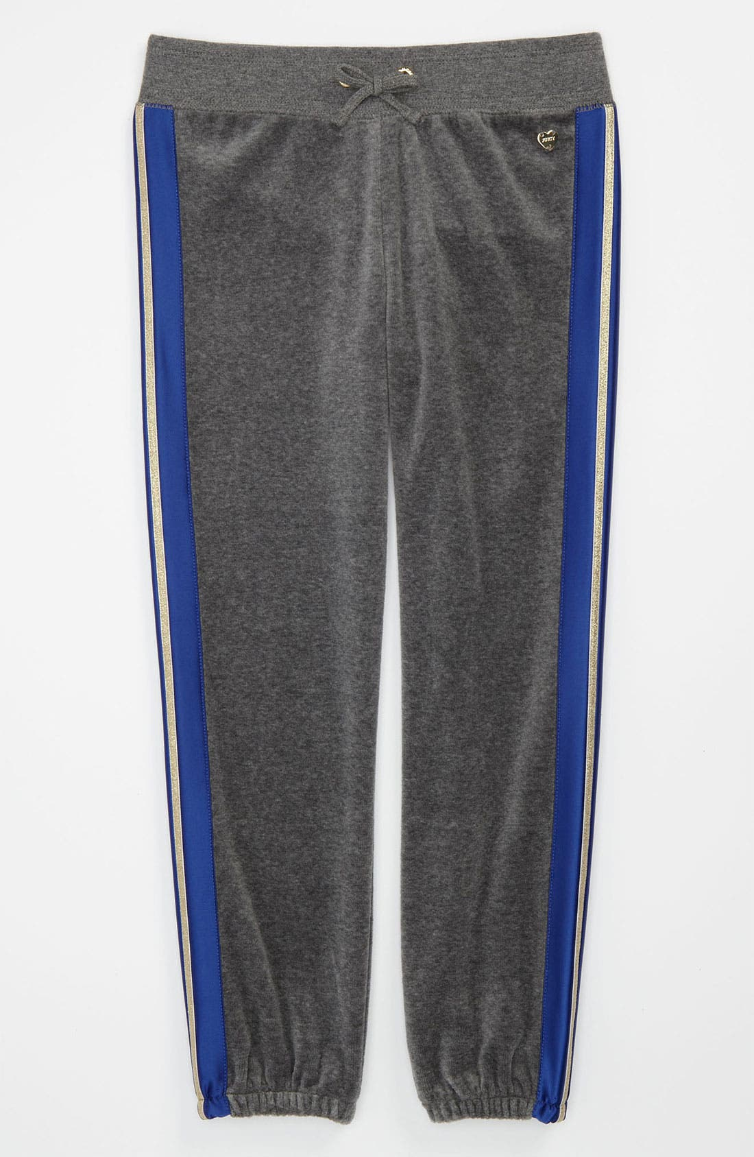 Main Image - Juicy Couture Metallic Stripe Pants (Little Girls & Big Girls)