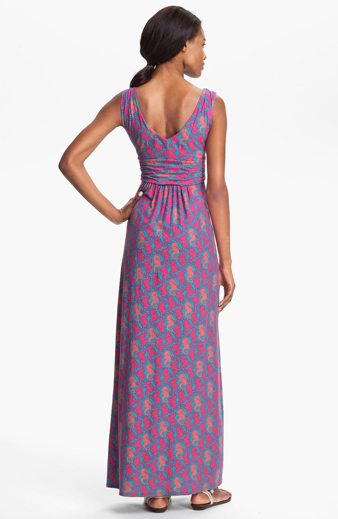 Alternate Image 2  - Lilly Pulitzer® 'Sloane' Seahorse Print Cotton Maxi Dress