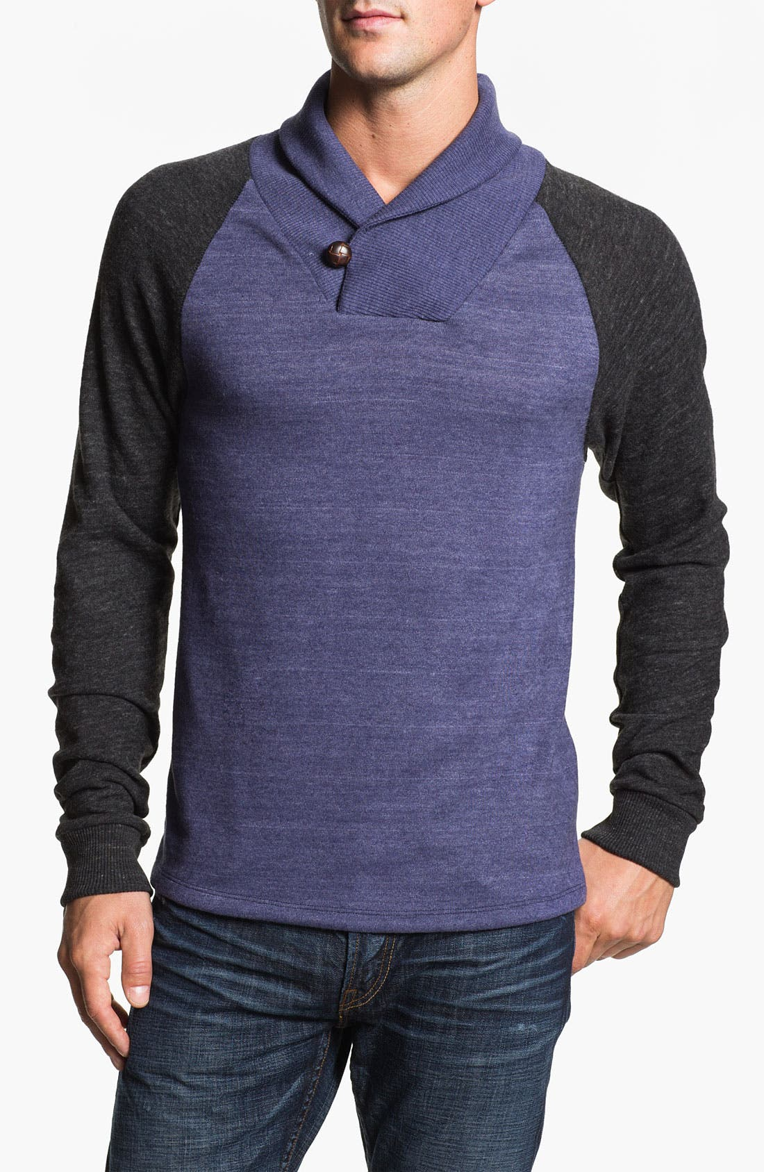 Main Image - Alternative 'Oliver' Shawl Collar Sweatshirt