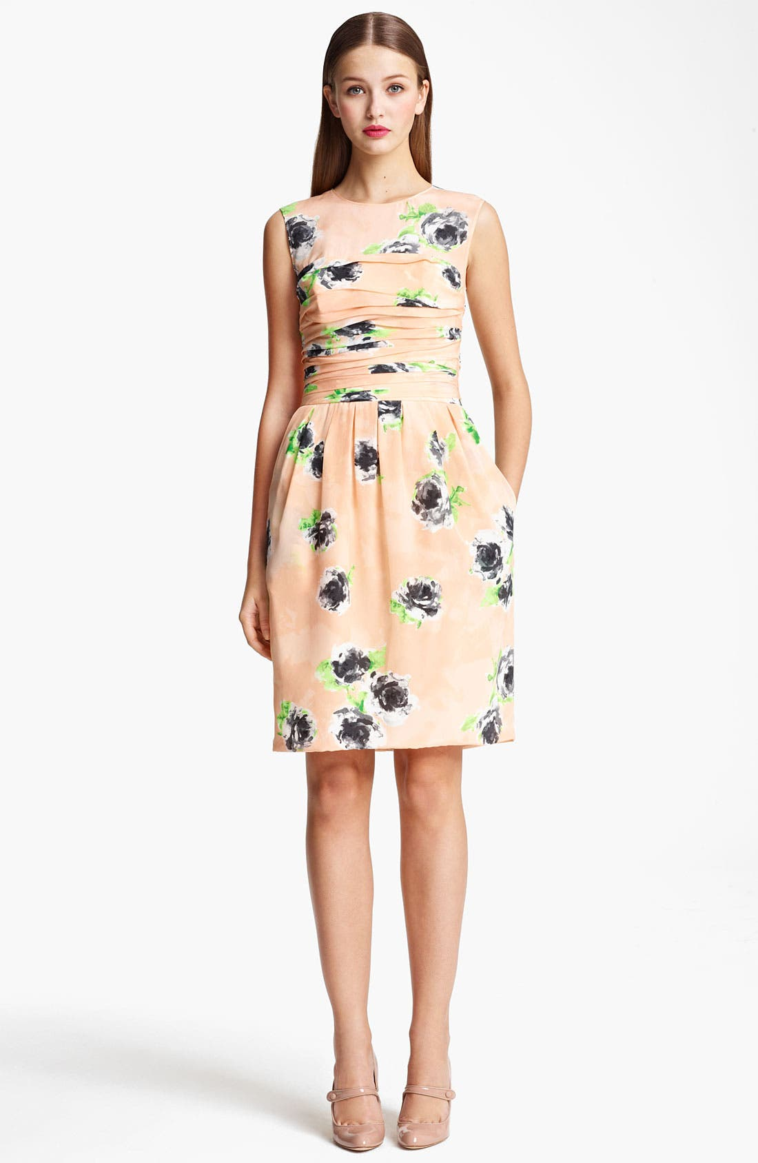 Alternate Image 1 Selected - Moschino Cheap & Chic Rose Print Crêpe de Chine Dress