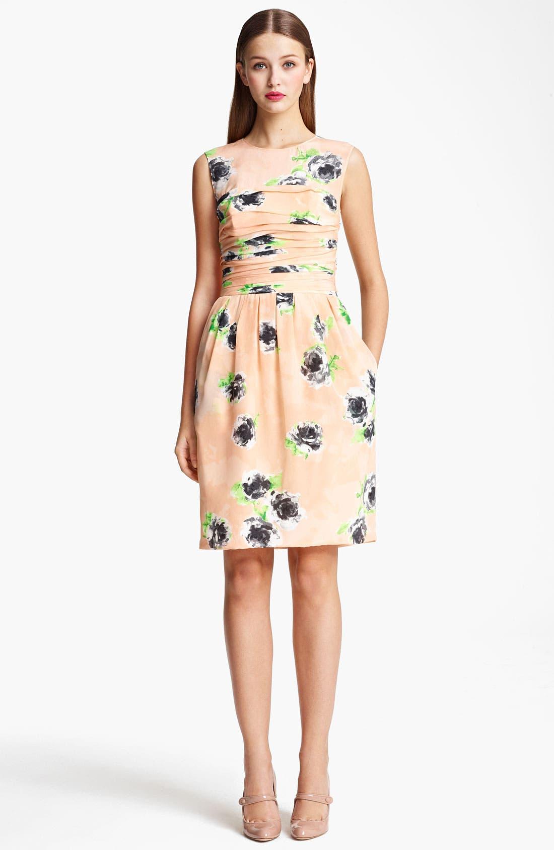 Main Image - Moschino Cheap & Chic Rose Print Crêpe de Chine Dress