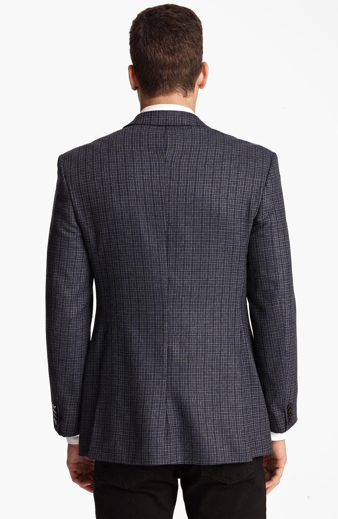 Alternate Image 2  - Versace Trim Fit Check Blazer