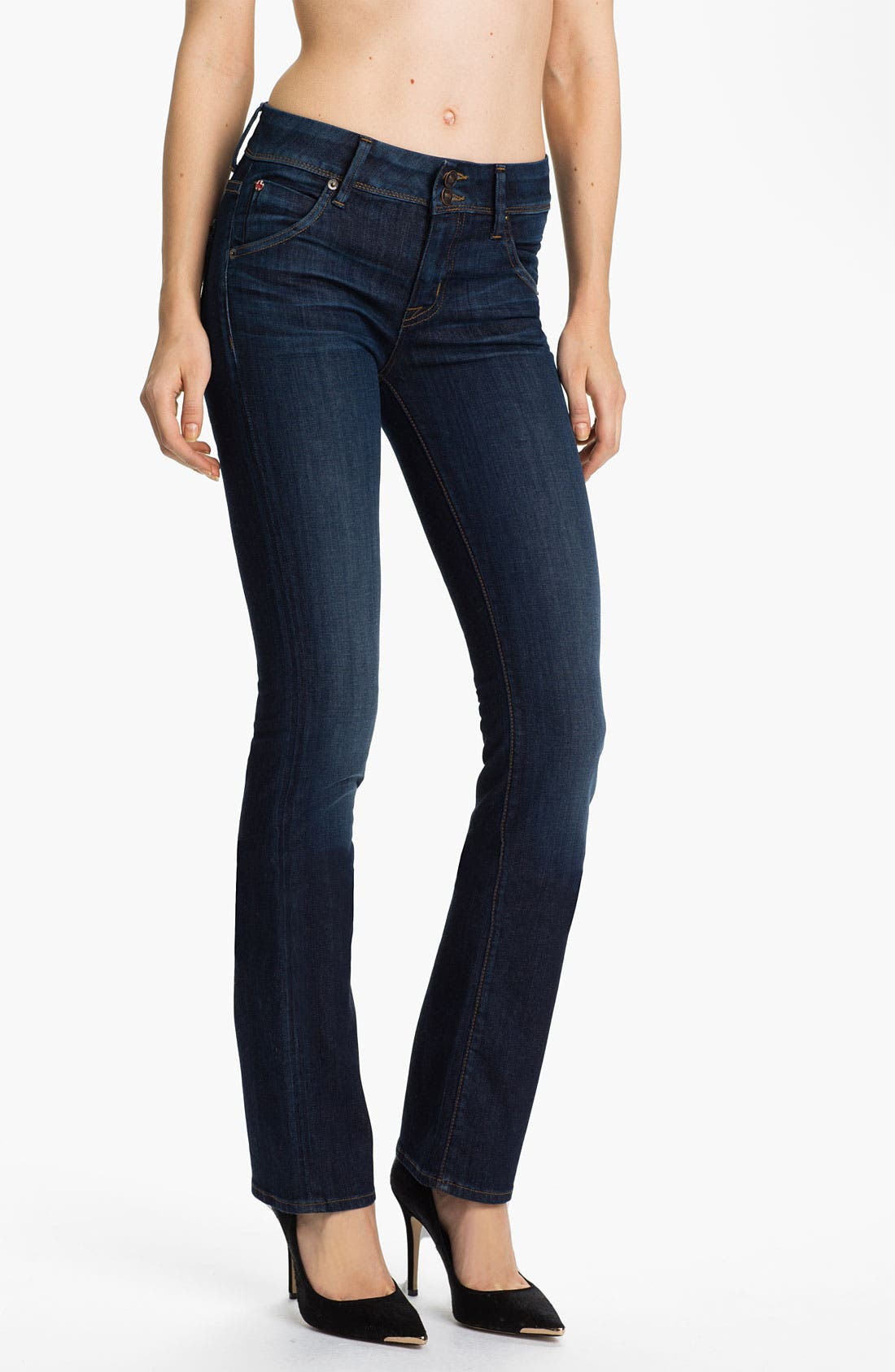 Alternate Image 1 Selected - Hudson Jeans 'Beth' Baby Bootcut Jeans (Blue)