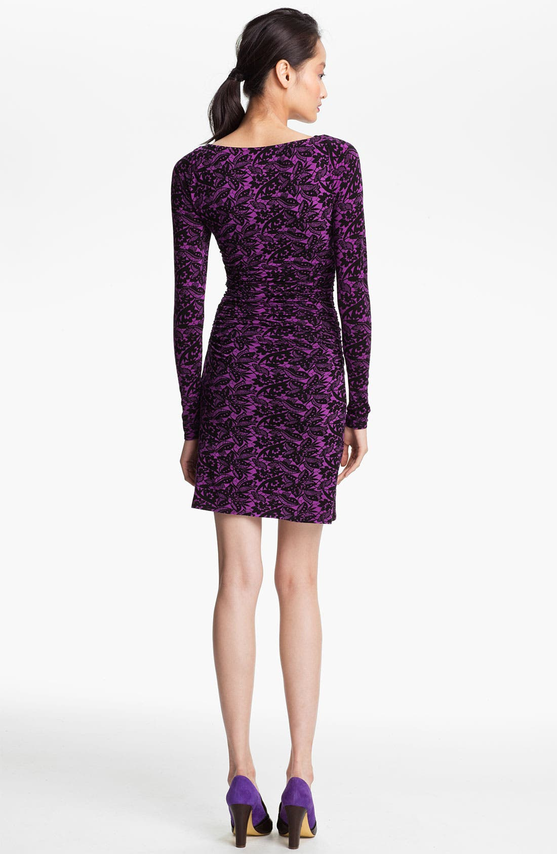 Alternate Image 2  - Tracy Reese Ruched Batik Print Jersey Dress