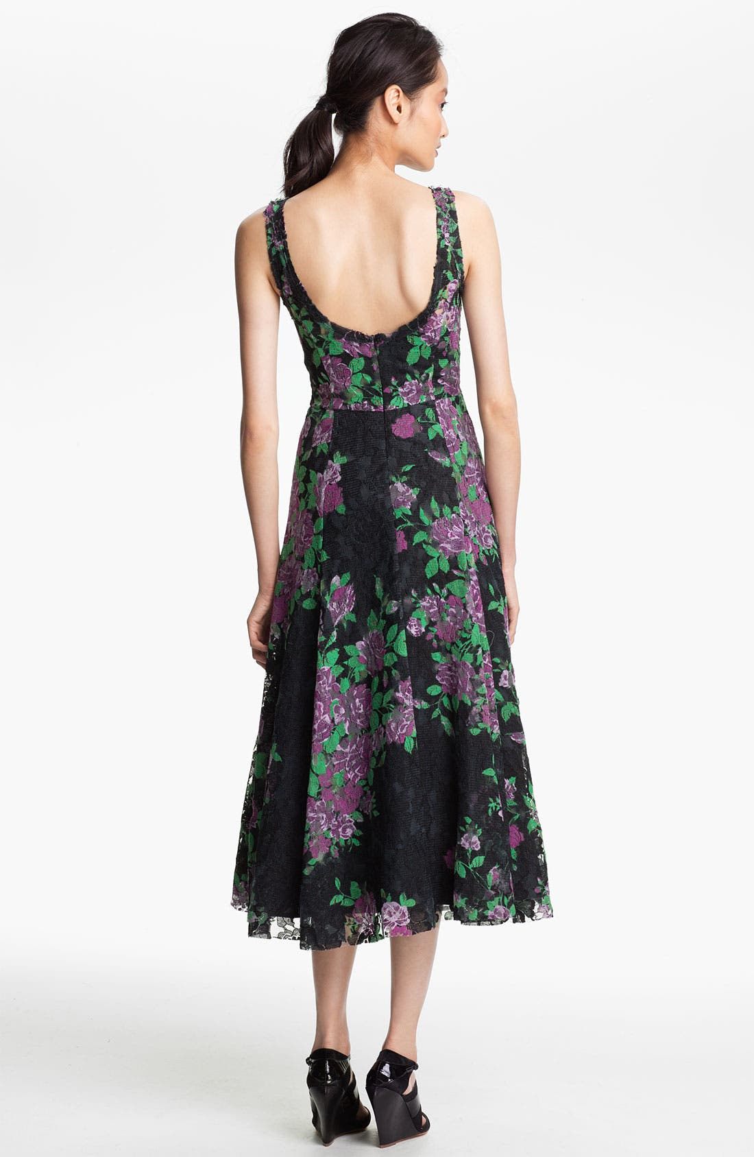 Alternate Image 2  - Tracy Reese Print Lace Dress