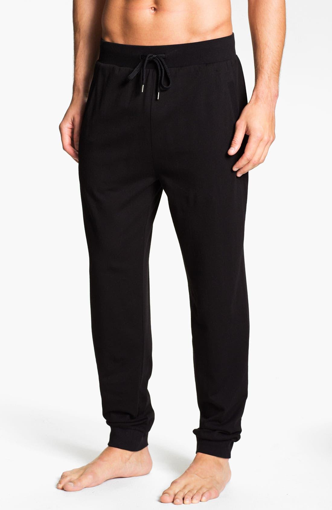 Alternate Image 1 Selected - BOSS Black Cotton Lounge Pants