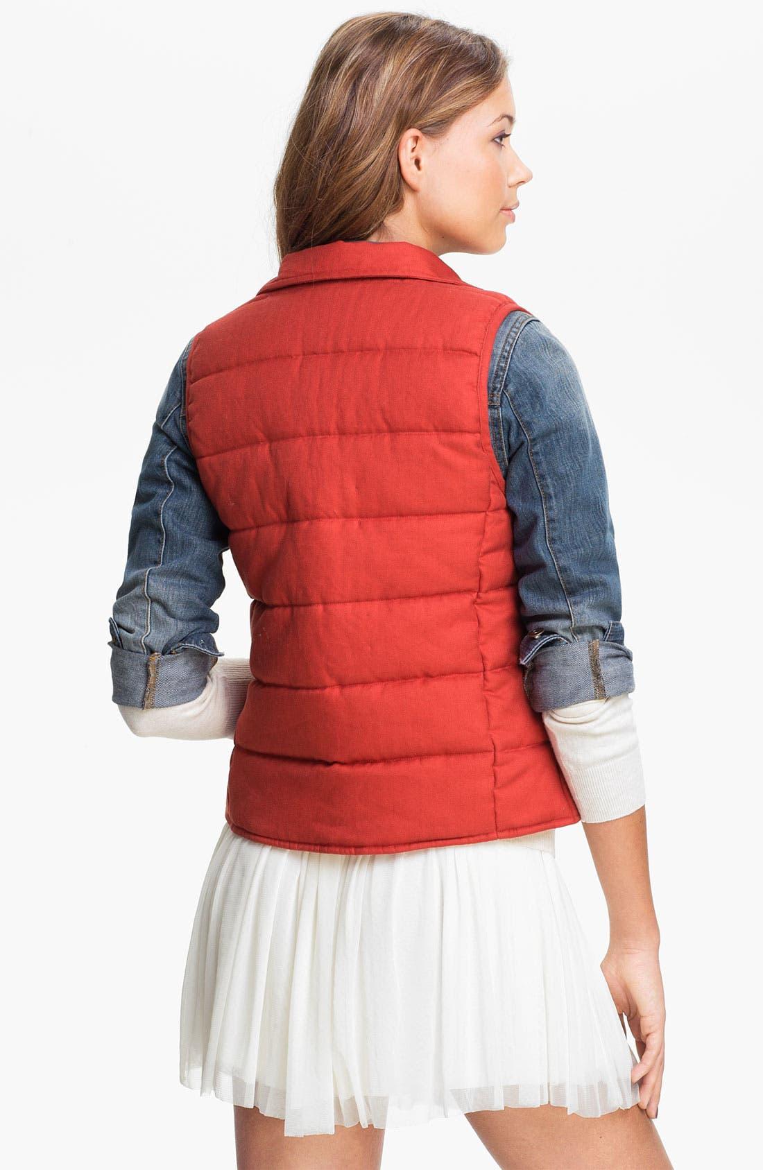 Alternate Image 2  - Rubbish® Nordic Knit Quilted Vest (Juniors)