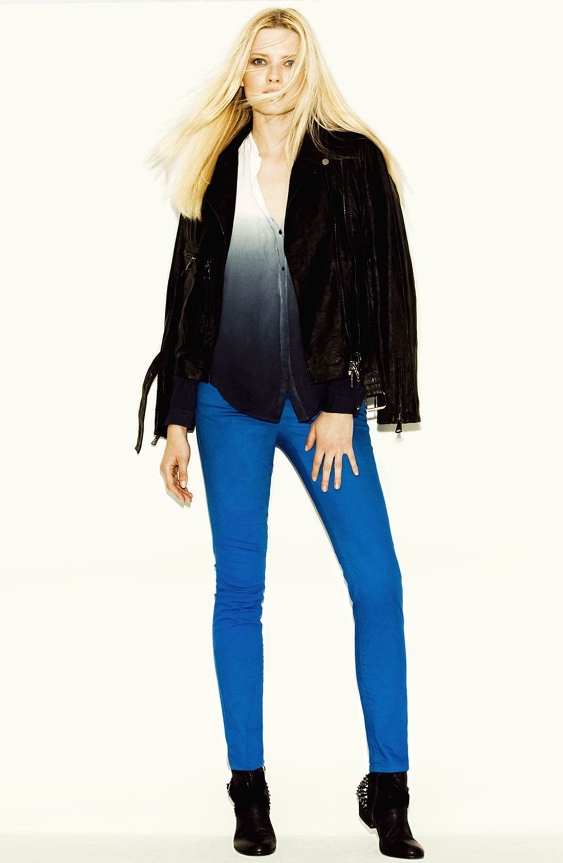 Alternate Image 4  - Two by Vince Camuto Leather Jacket