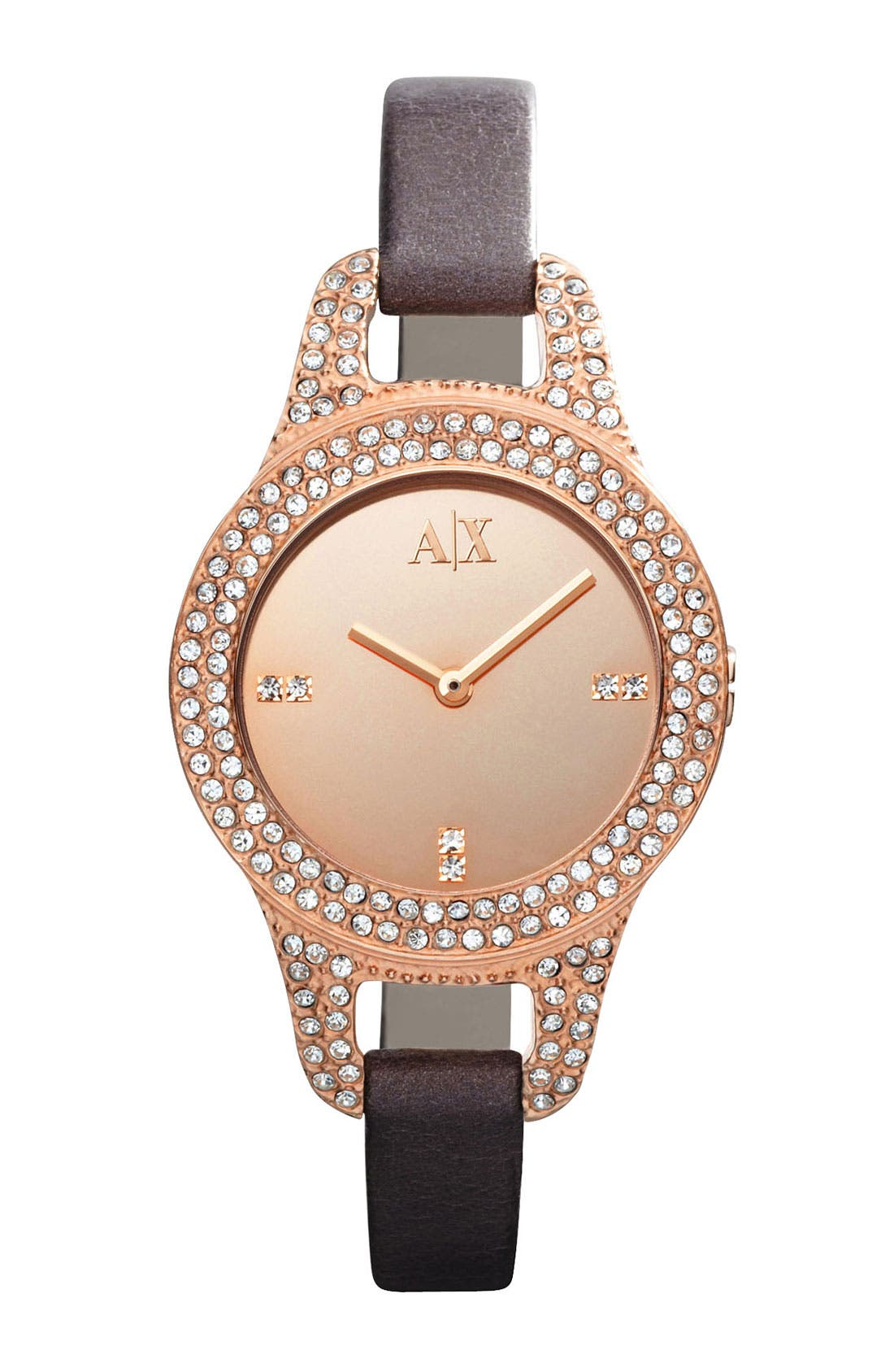Alternate Image 1 Selected - AX Armani Exchange Mirror Dial Watch