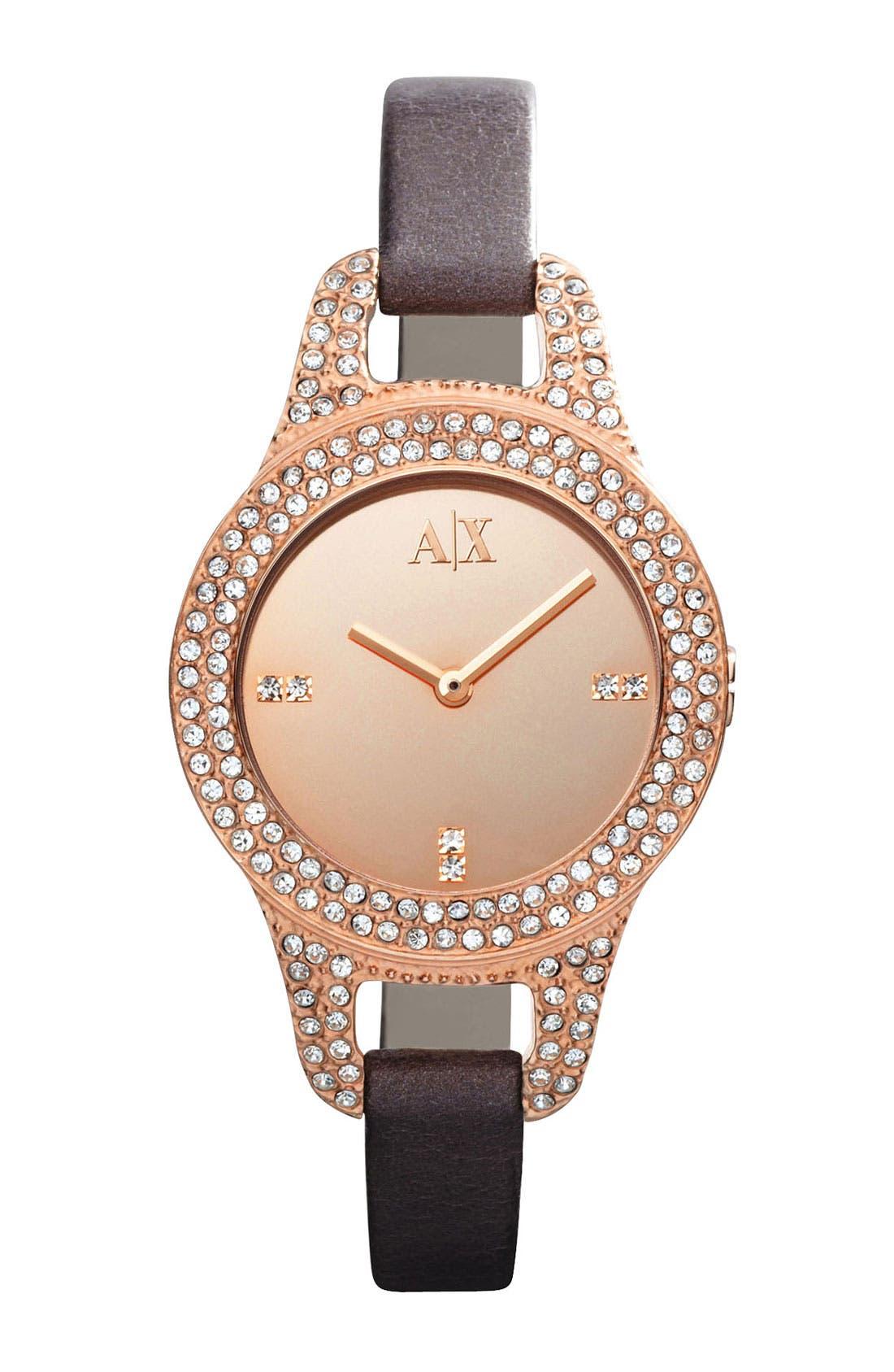 Main Image - AX Armani Exchange Mirror Dial Watch