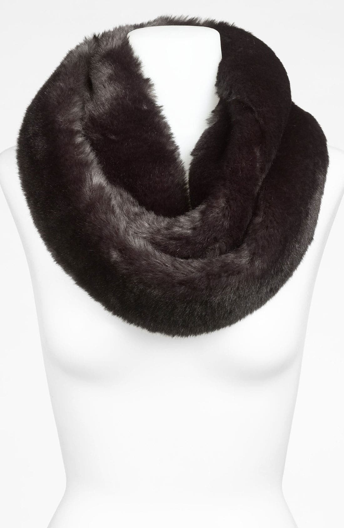 Main Image - Halogen® Faux Fur Infinity Scarf