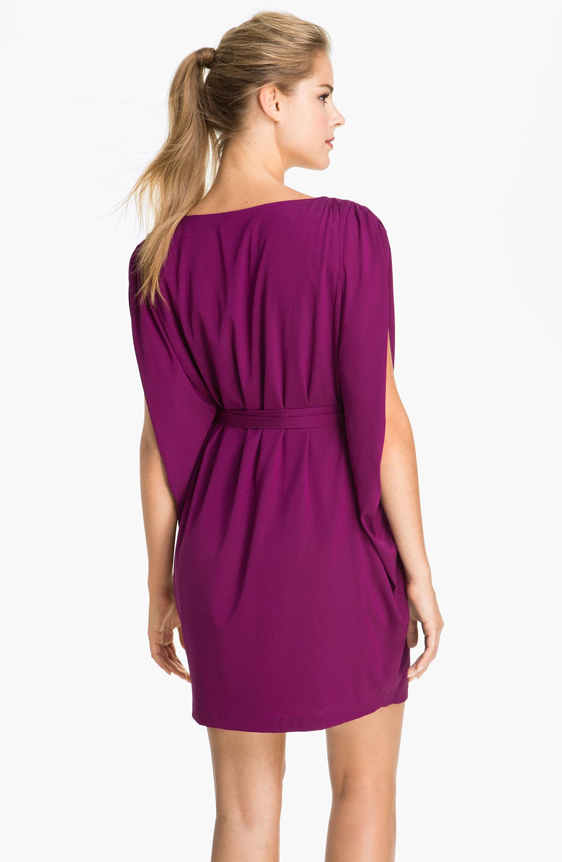 Alternate Image 2  - Suzi Chin for Maggy Boutique Batwing Sleeve Surplice Dress