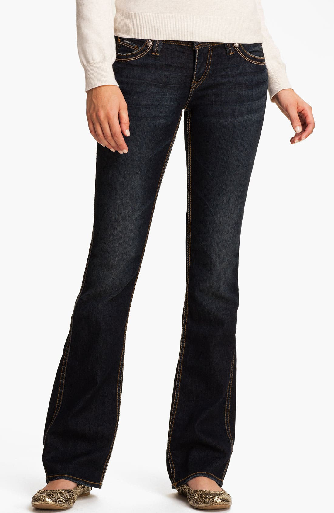 Alternate Image 2  - Silver Jeans Co. 'Frances' Bootcut Jeans (Juniors)