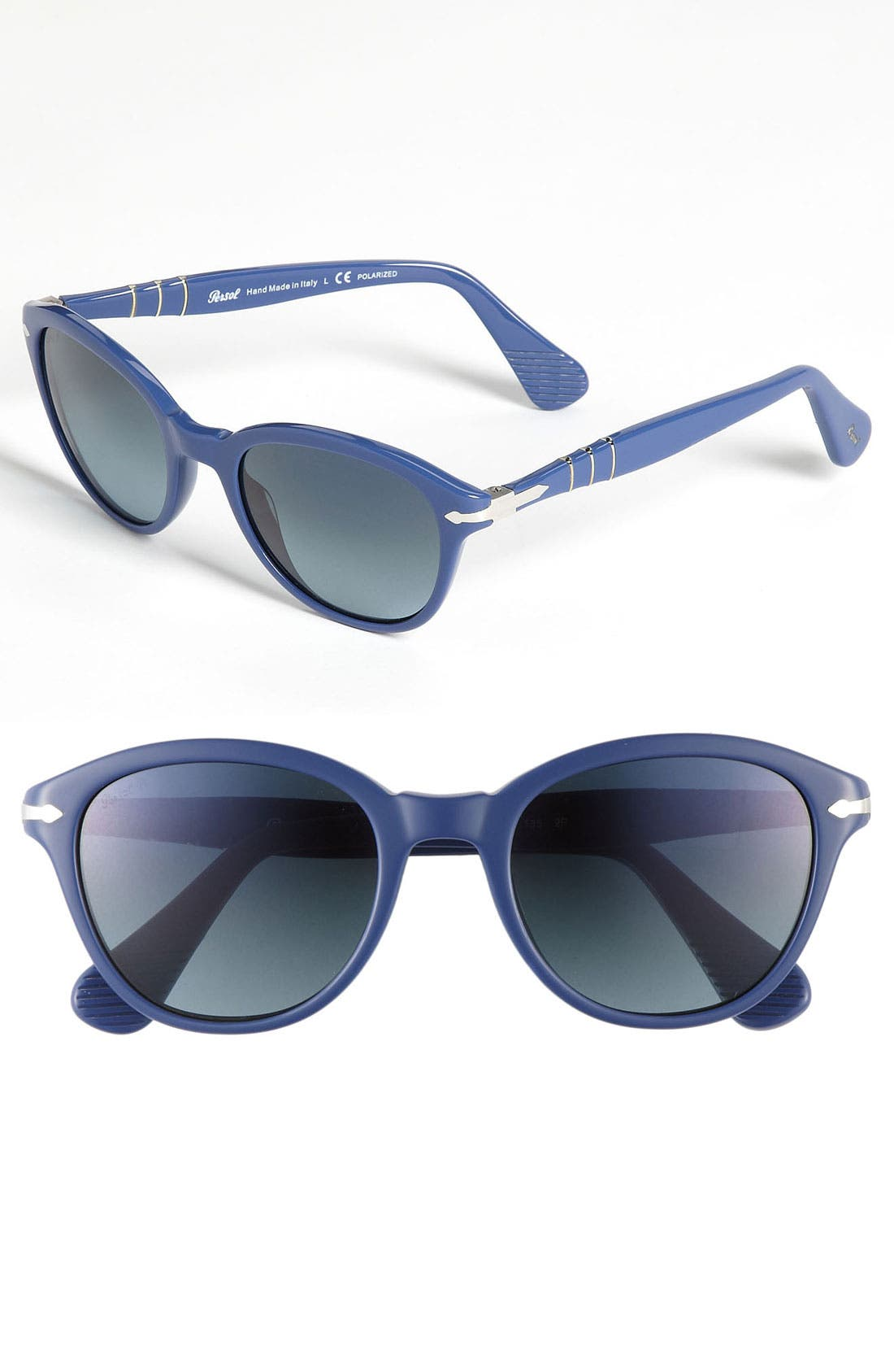 Main Image - Persol 50mm Polarized Round Retro Sunglasses