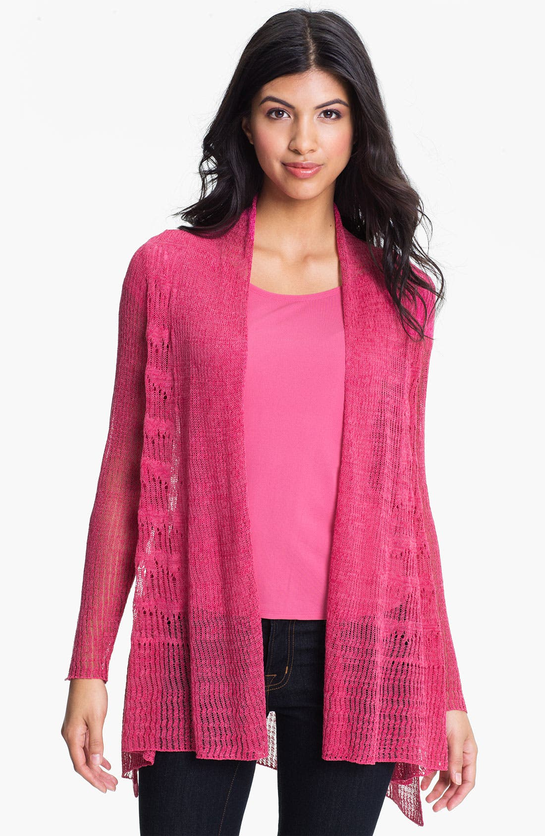 Main Image - Eileen Fisher 'Pointelle Wave' Cardigan (Online Exclusive)