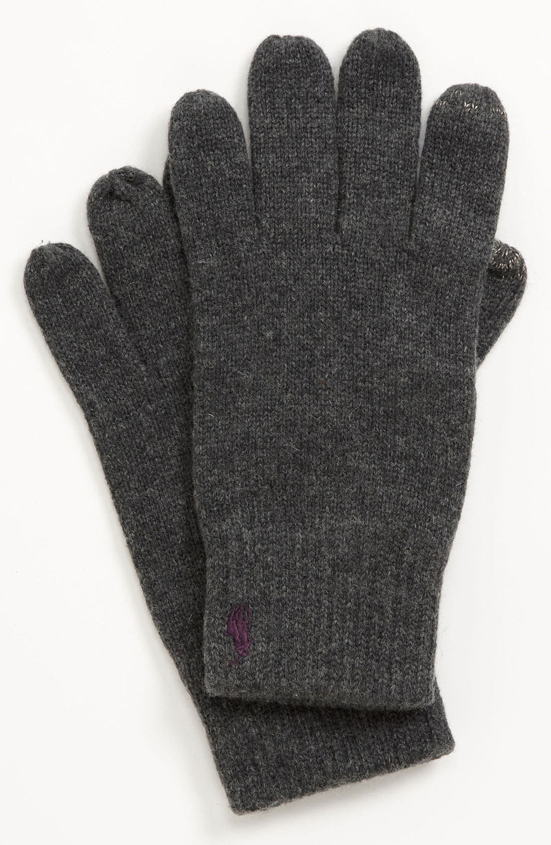 Alternate Image 1 Selected - Polo Ralph Lauren Cotton Blend Gloves