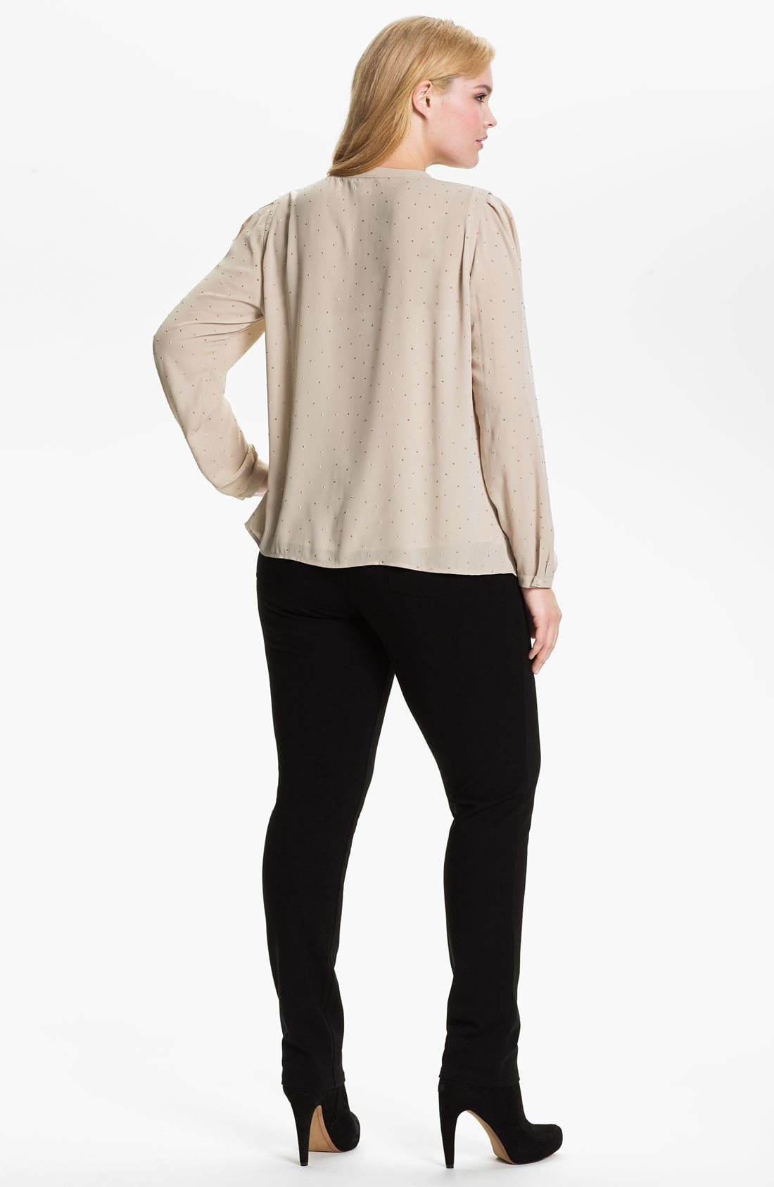 Alternate Image 5  - DKNYC Studded Blouse (Plus)