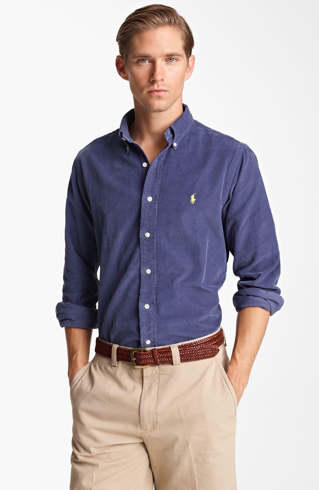 Alternate Image 1 Selected - Polo Ralph Lauren Custom Fit Corduroy Sport Shirt