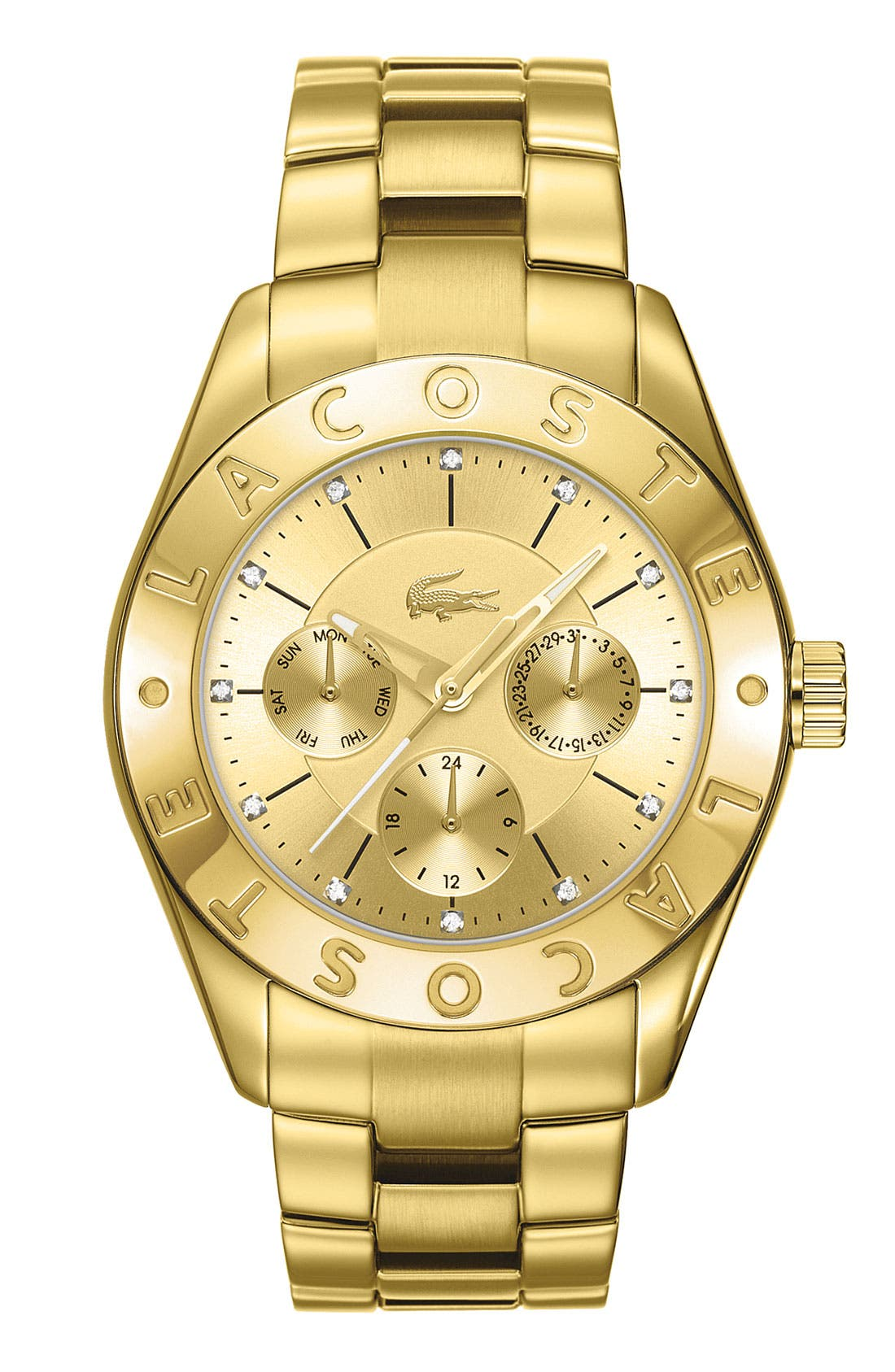 Main Image - Lacoste 'Biarritz' Logo Bezel Bracelet Watch, 38mm