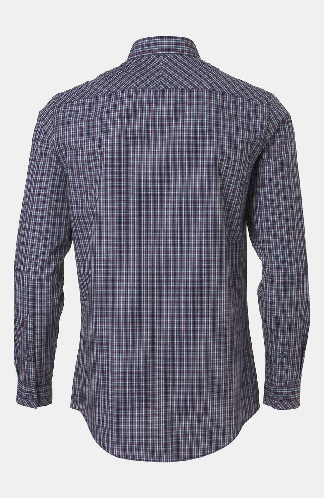 Alternate Image 2  - Topman Extra Trim Tartan Check Shirt