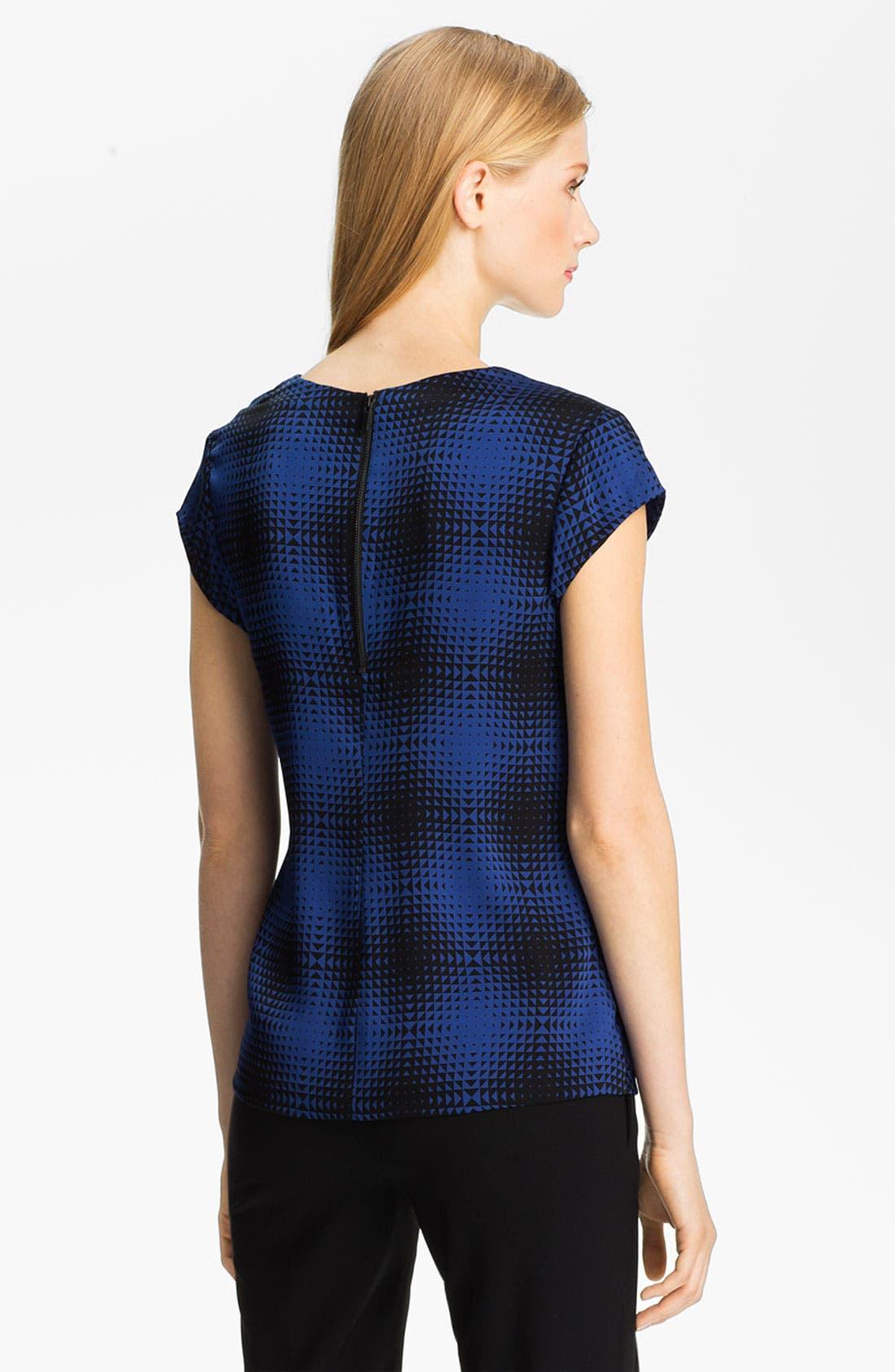 Alternate Image 2  - Classiques Entier® Drape Neck Stretch Silk Top