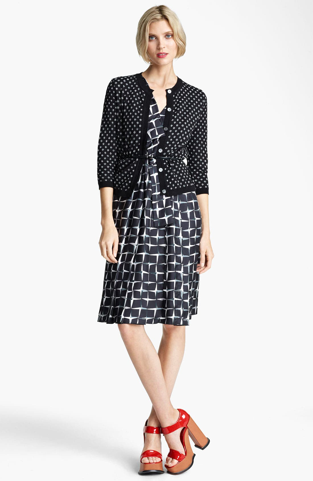 Alternate Image 3  - MARC JACOBS Diamond Print Silk Twill Dress