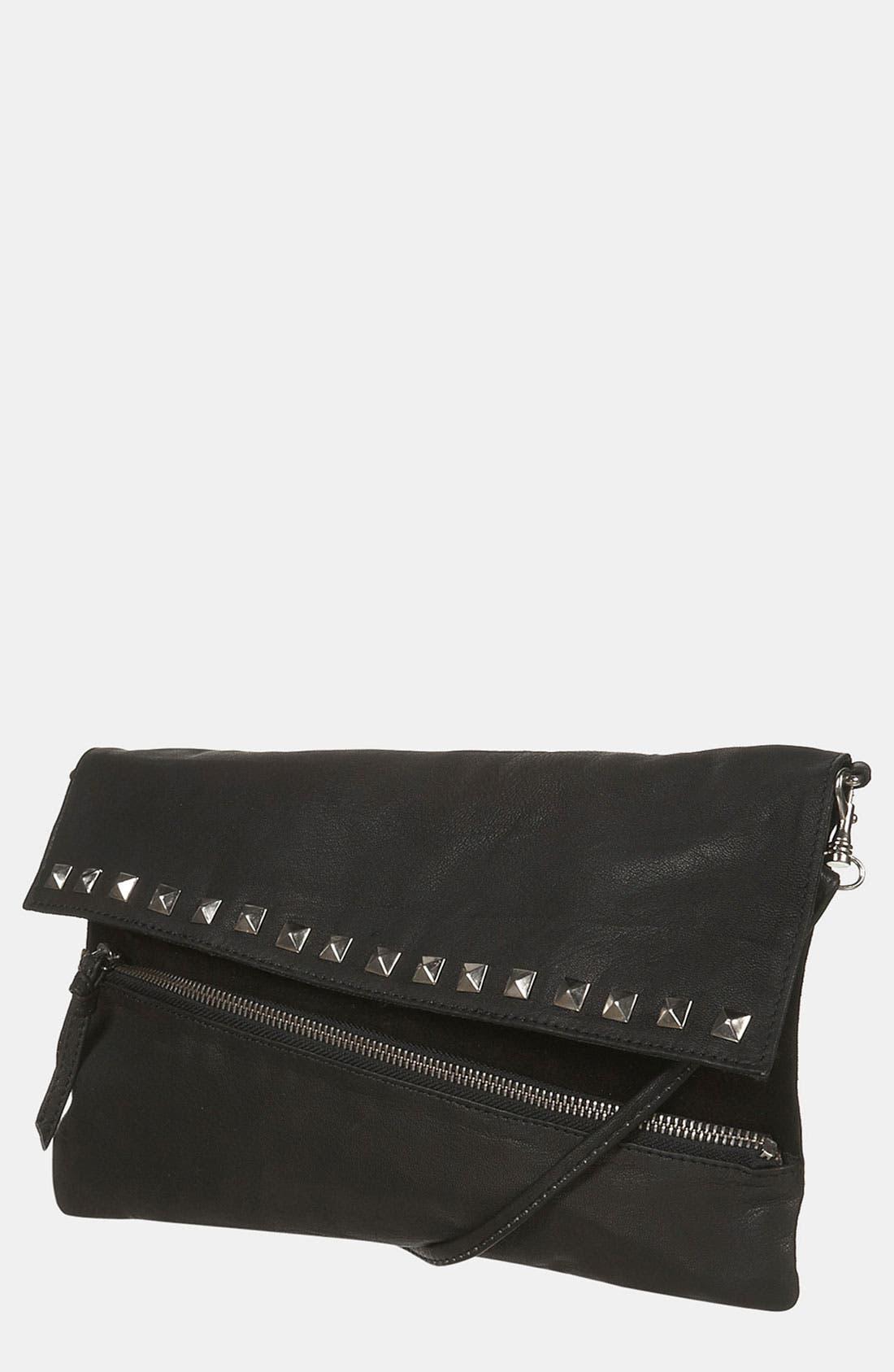 Main Image - Topshop Asymmetrical Stud Leather Purse