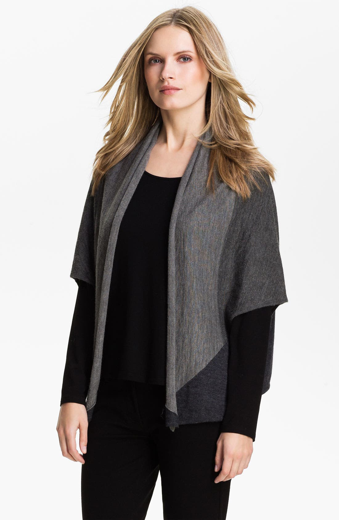 Main Image - Eileen Fisher Colorblock Alpaca Cardigan (Online Exclusive)