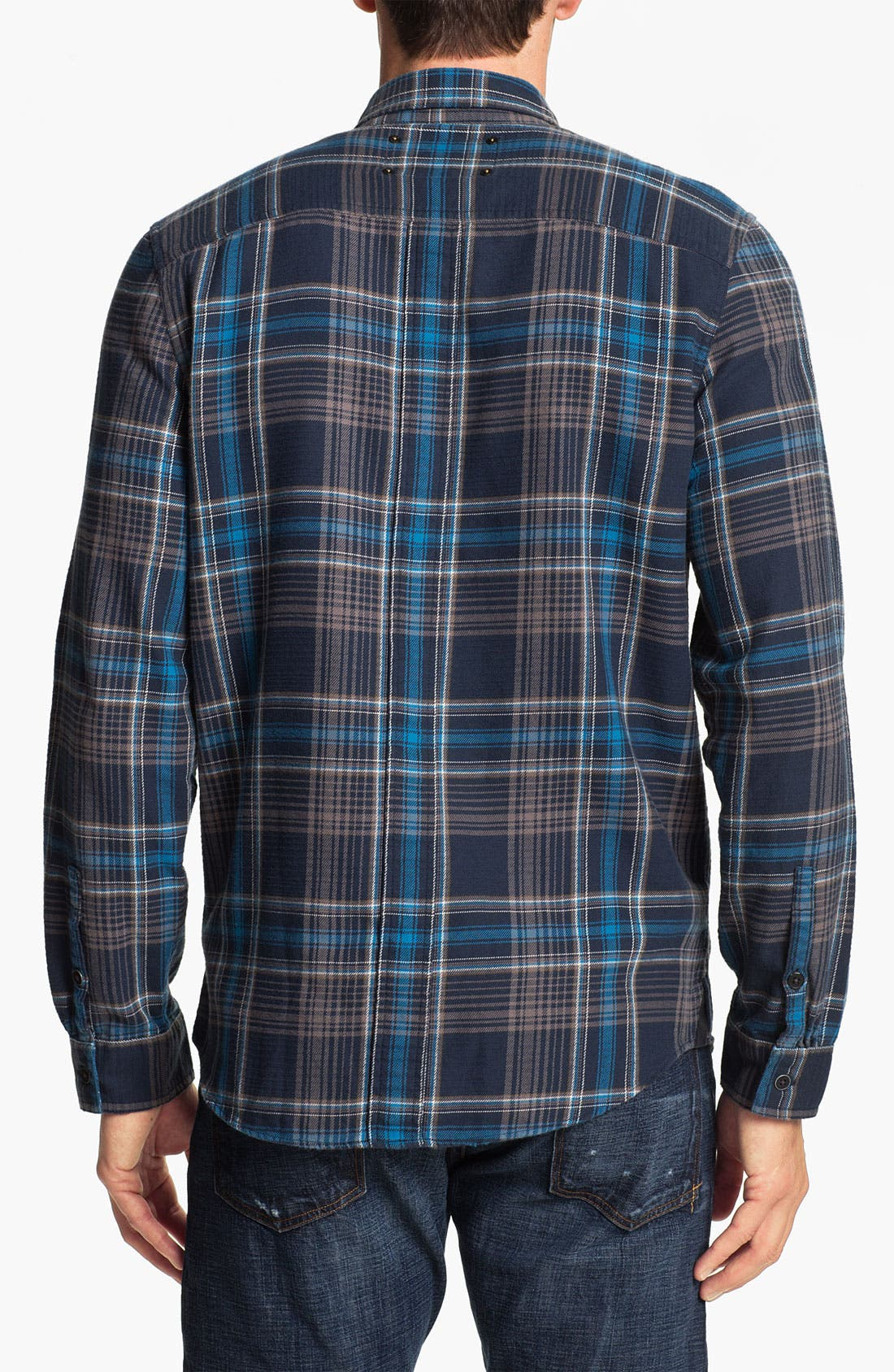 Alternate Image 2  - R44 Rogan Standard Issue Flannel Work Shirt