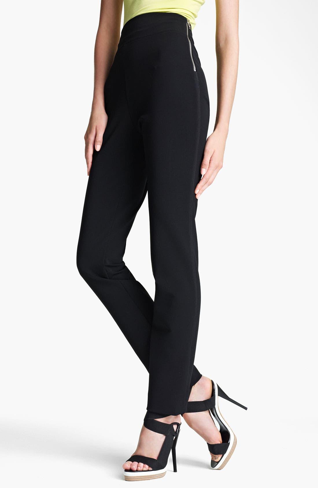 Main Image - Lida Baday High Waist Stretch Knit Pants