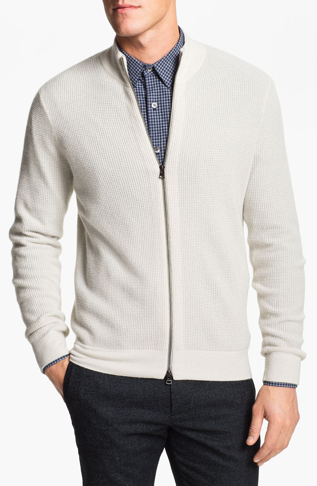 Alternate Image 1 Selected - Theory Zip Front Cashmere Cardigan