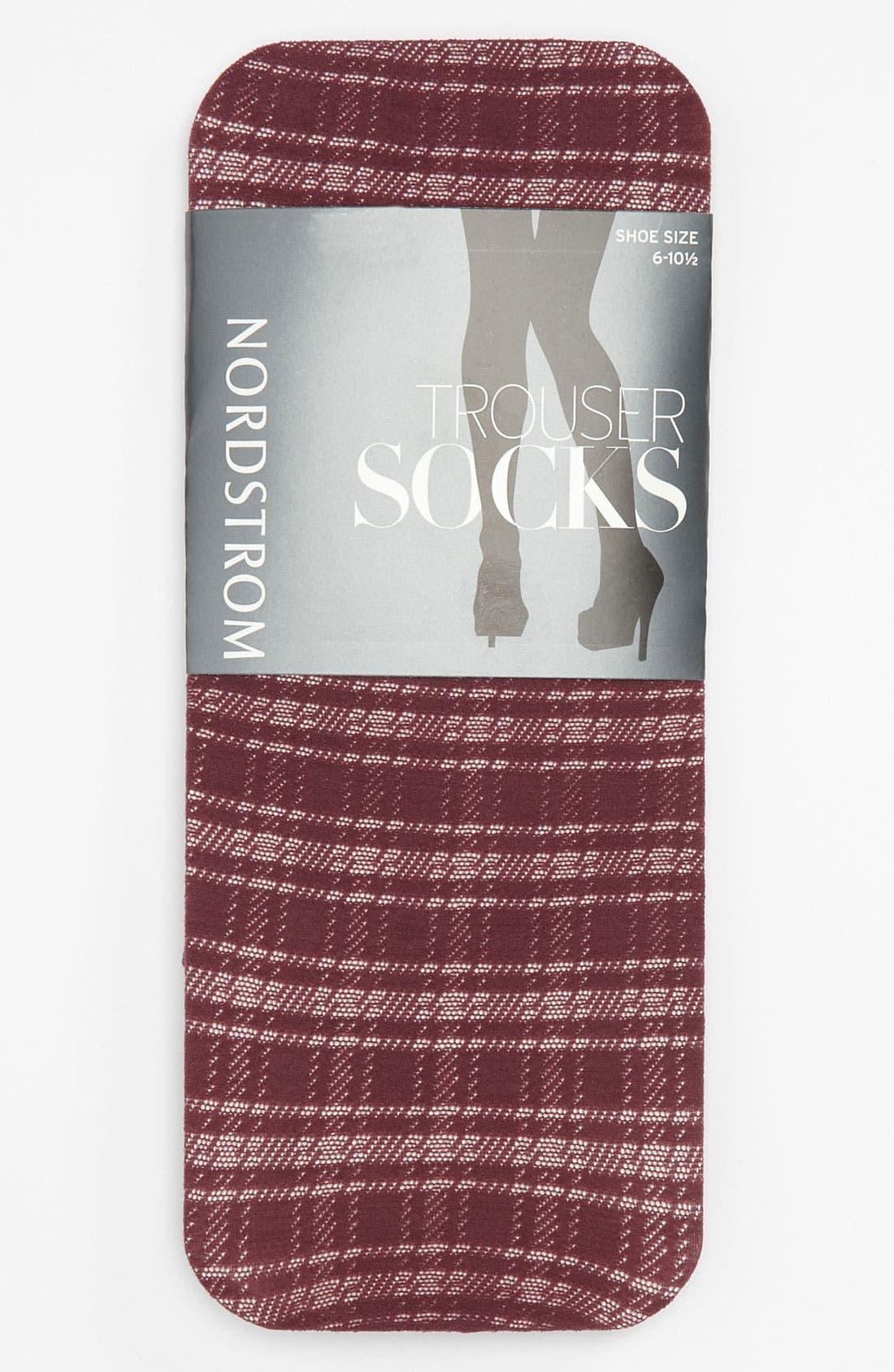 Alternate Image 1 Selected - Nordstrom 'Prep' Plaid Trouser Socks