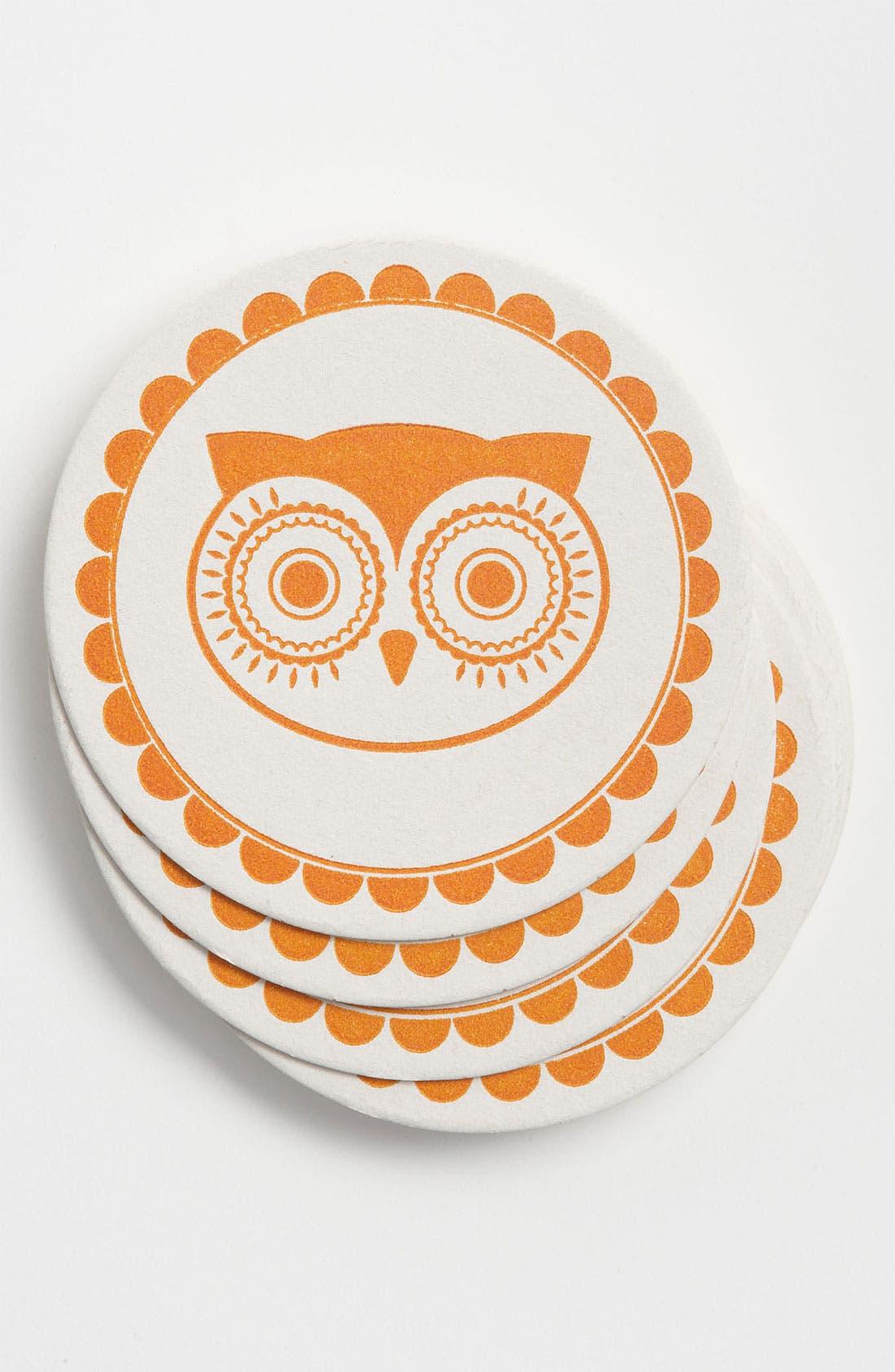 Alternate Image 1 Selected - 'Vintage Owl' Coasters (Set of 10)