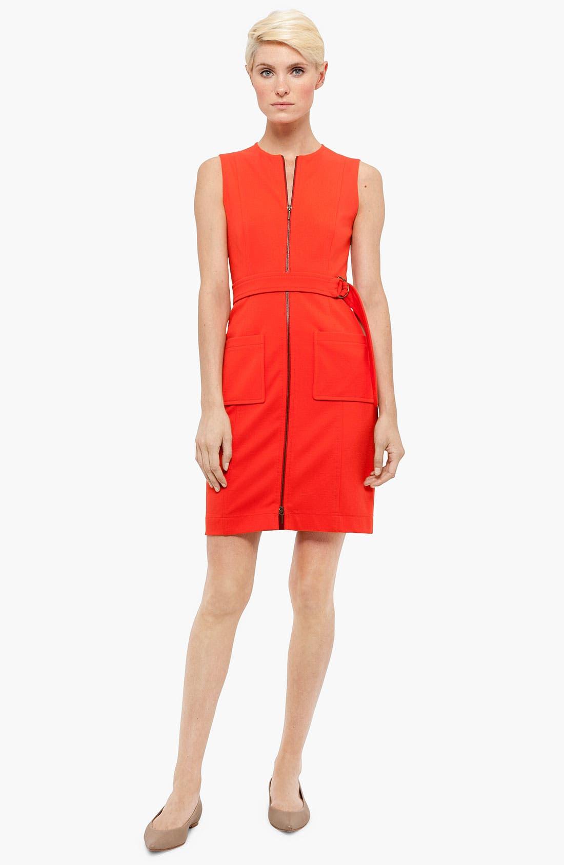 Main Image - Akris punto Belted Jersey Dress