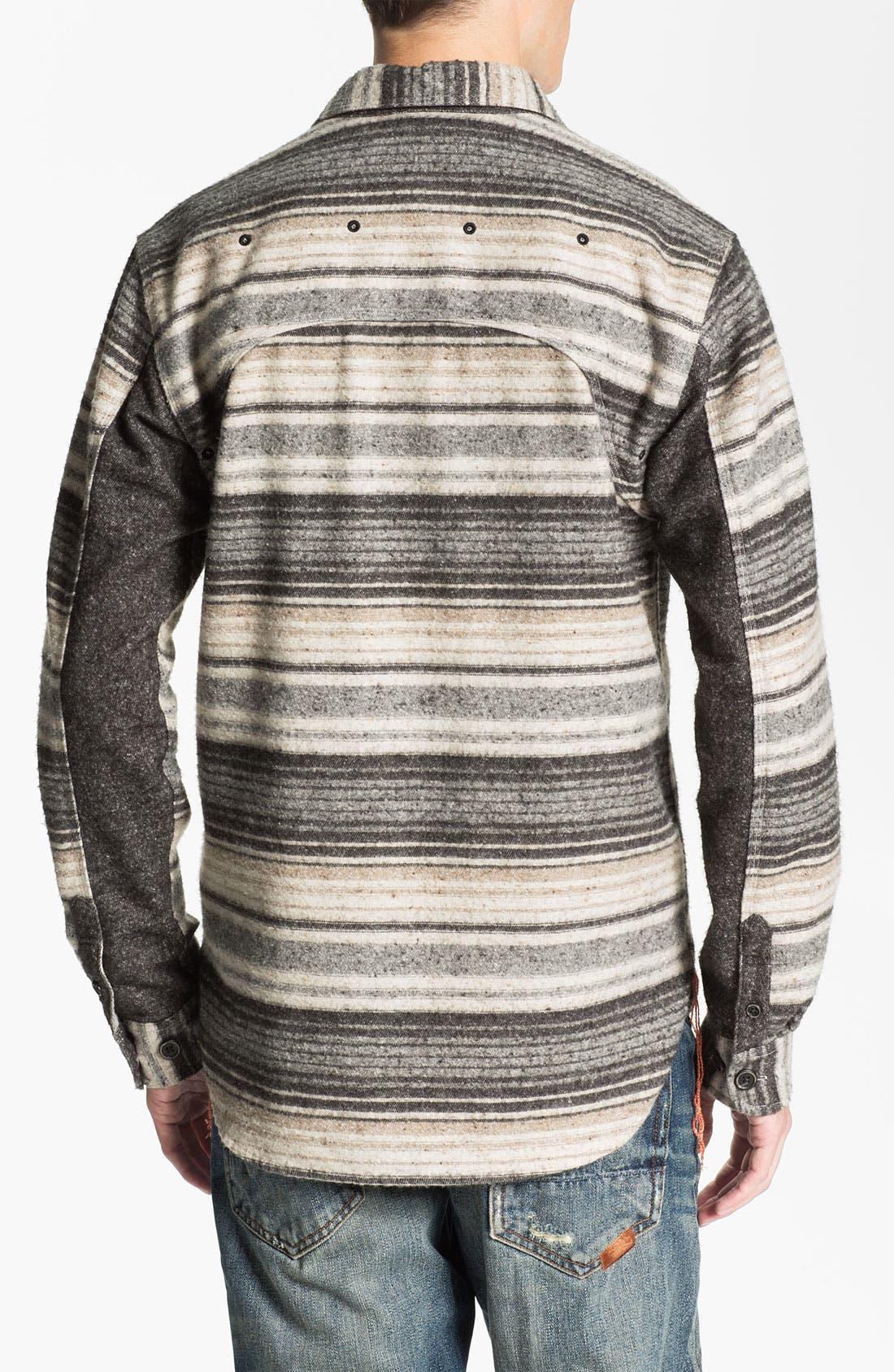 Alternate Image 2  - PRPS Horizontal Stripe Flannel Shirt