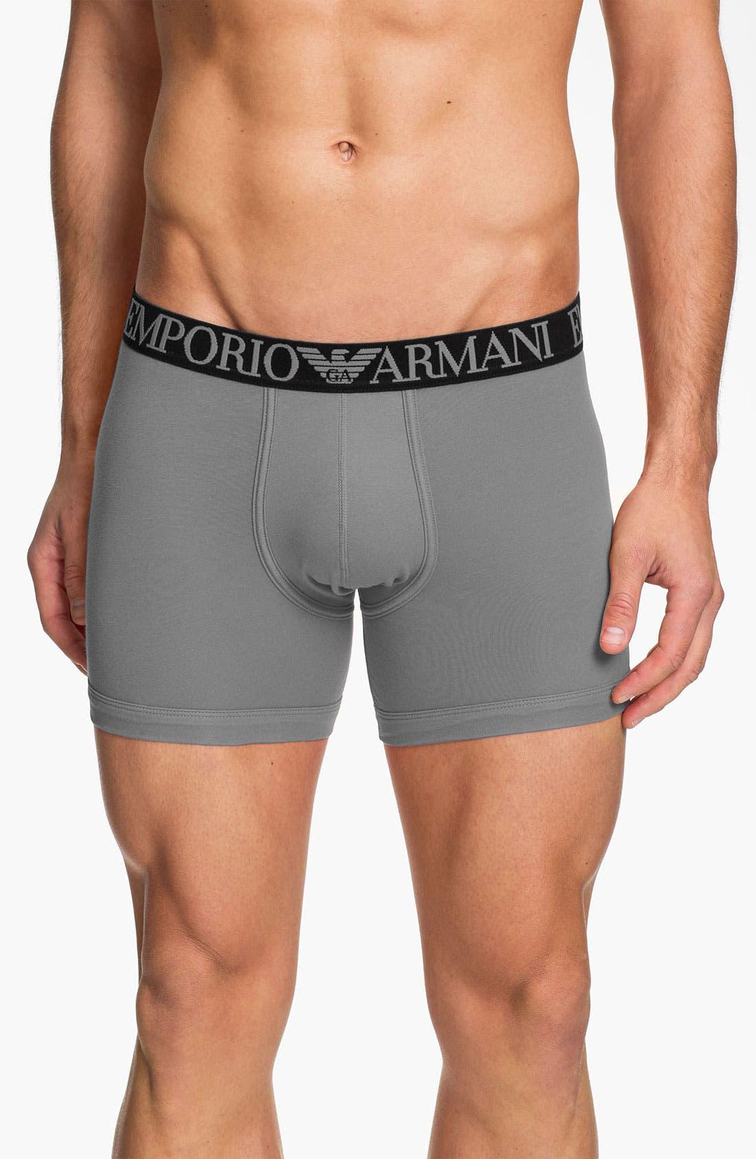 Alternate Image 1 Selected - Emporio Armani Stretch Cotton Boxer Briefs