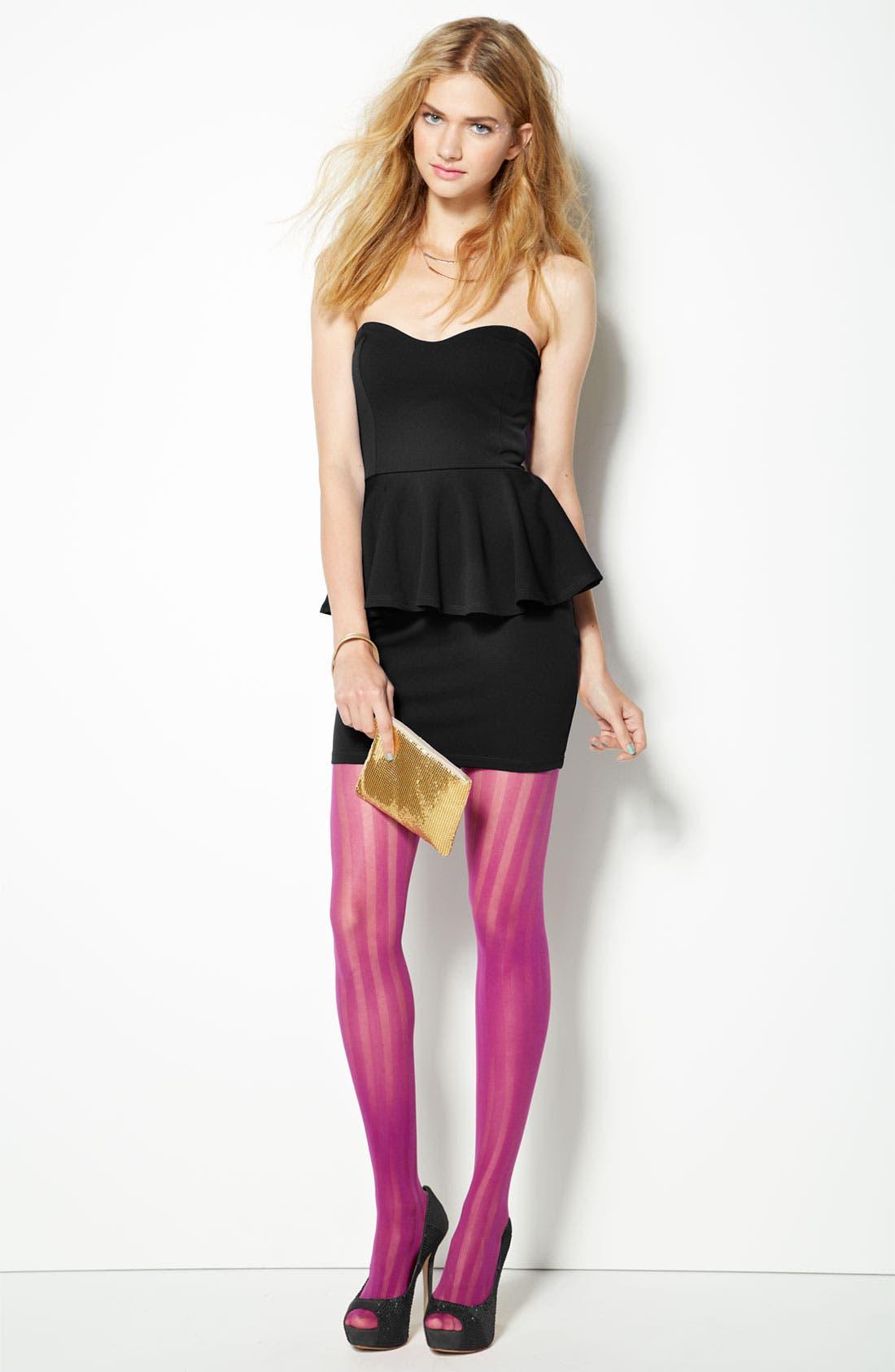 Alternate Image 4  - Lush Strapless Peplum Dress (Juniors)