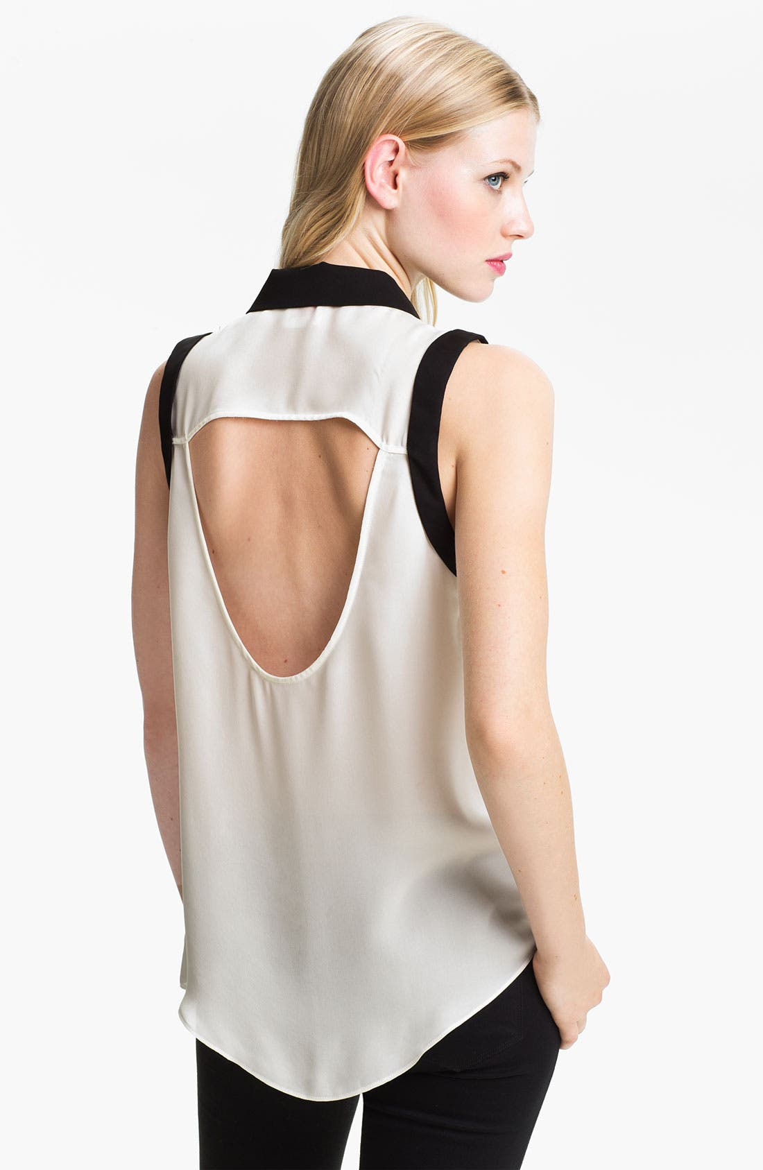 Alternate Image 2  - Parker Open Back Silk Georgette Blouse