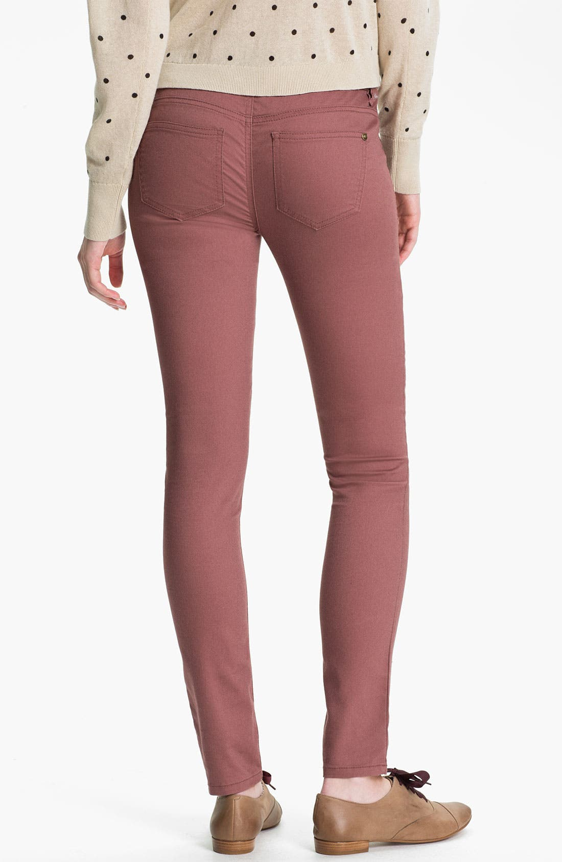 Alternate Image 1 Selected - Fire Skinny Jeans (Juniors)