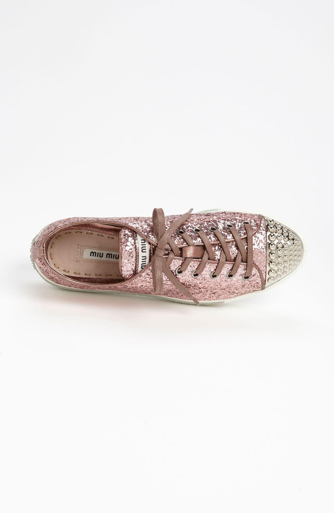 Alternate Image 3  - Miu Miu Glitter Cap Toe Sneaker
